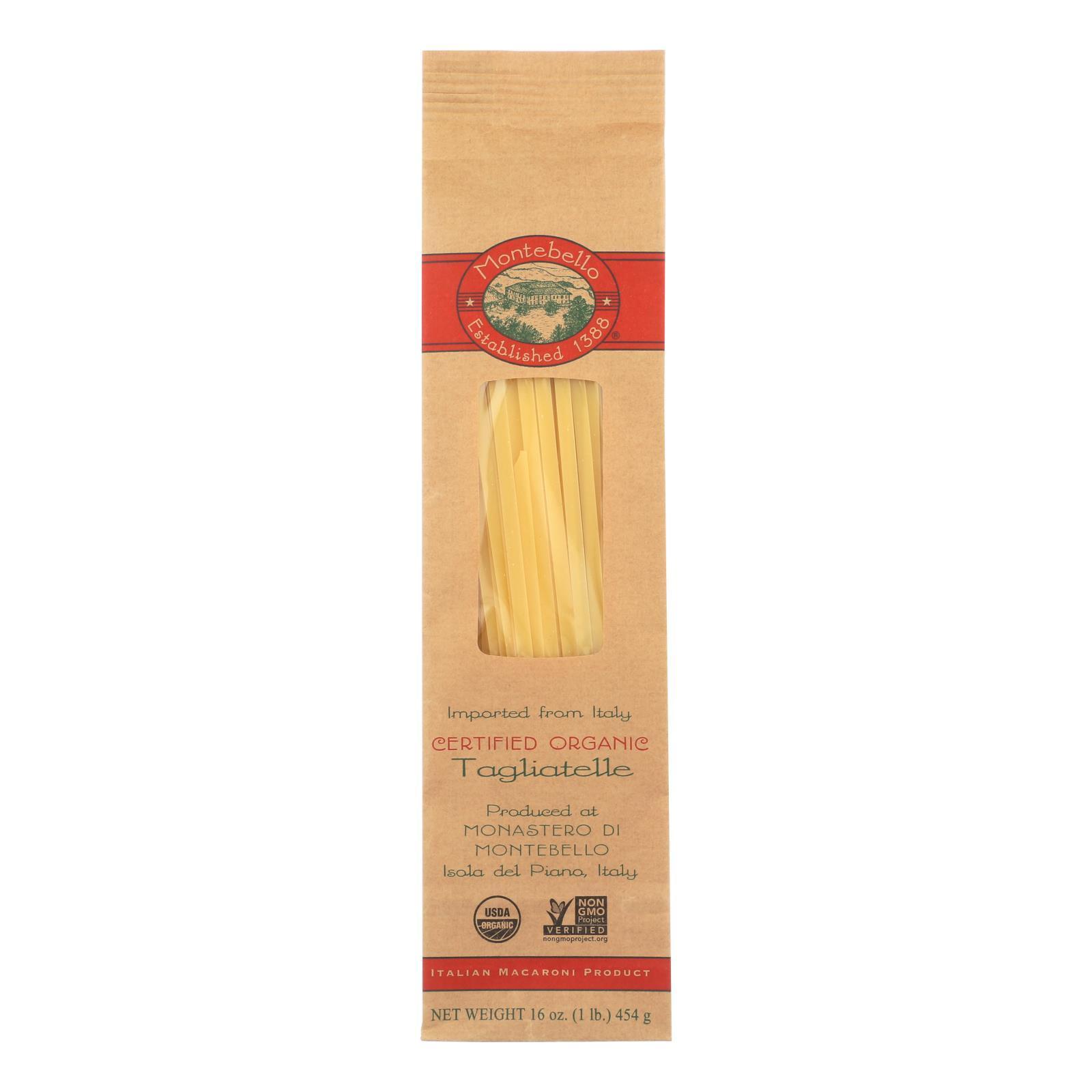 Montebello Organic Pasta - Tagliatelle - Case of 12 - 1 lb.