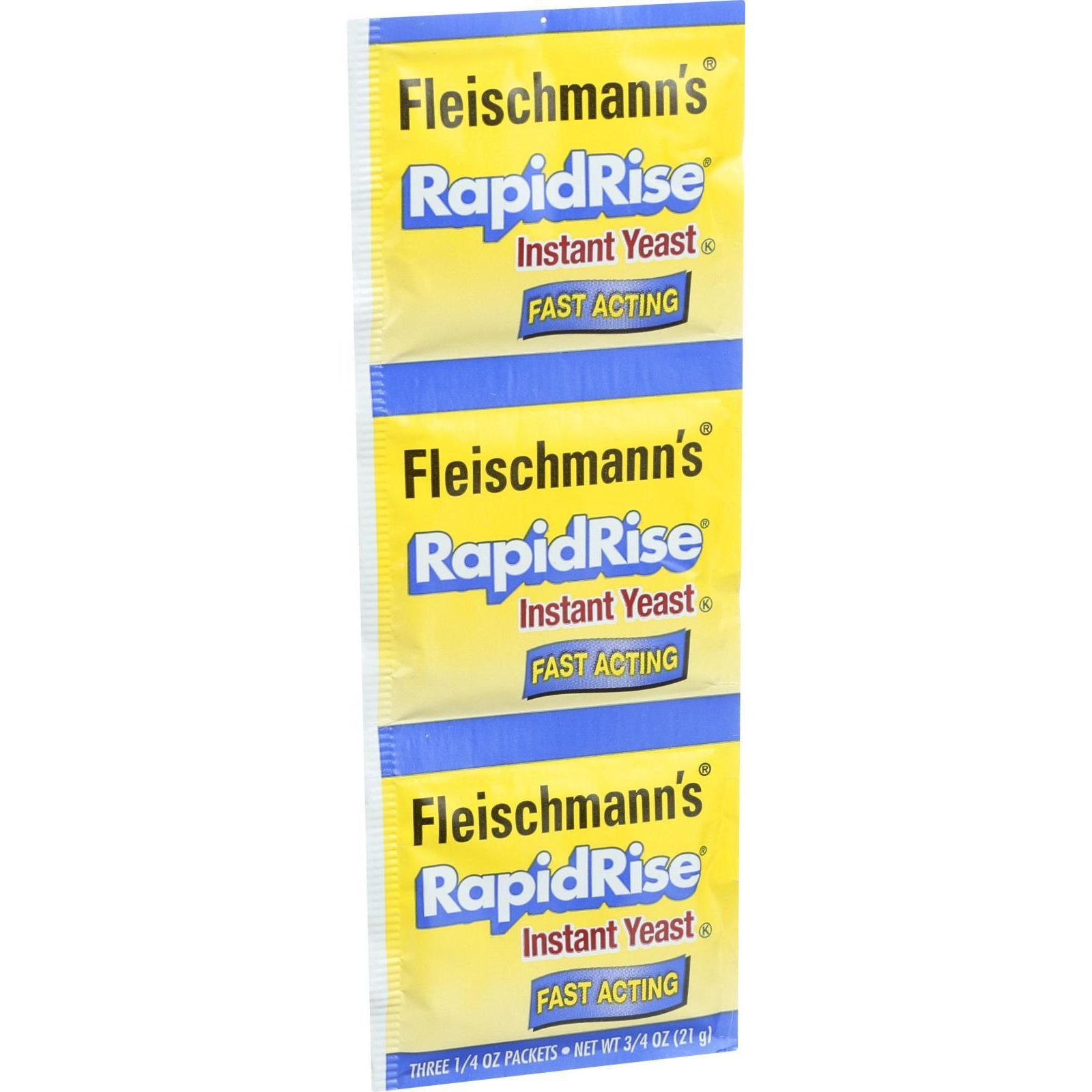 Fleischmann's Classic Yeast - RapidRise - 3 Packets - .75 oz - Case of 20
