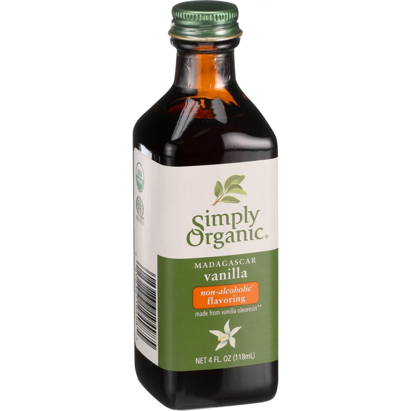 Simply Organic Vanilla Flavoring - Organic - 4 oz - Case of 6