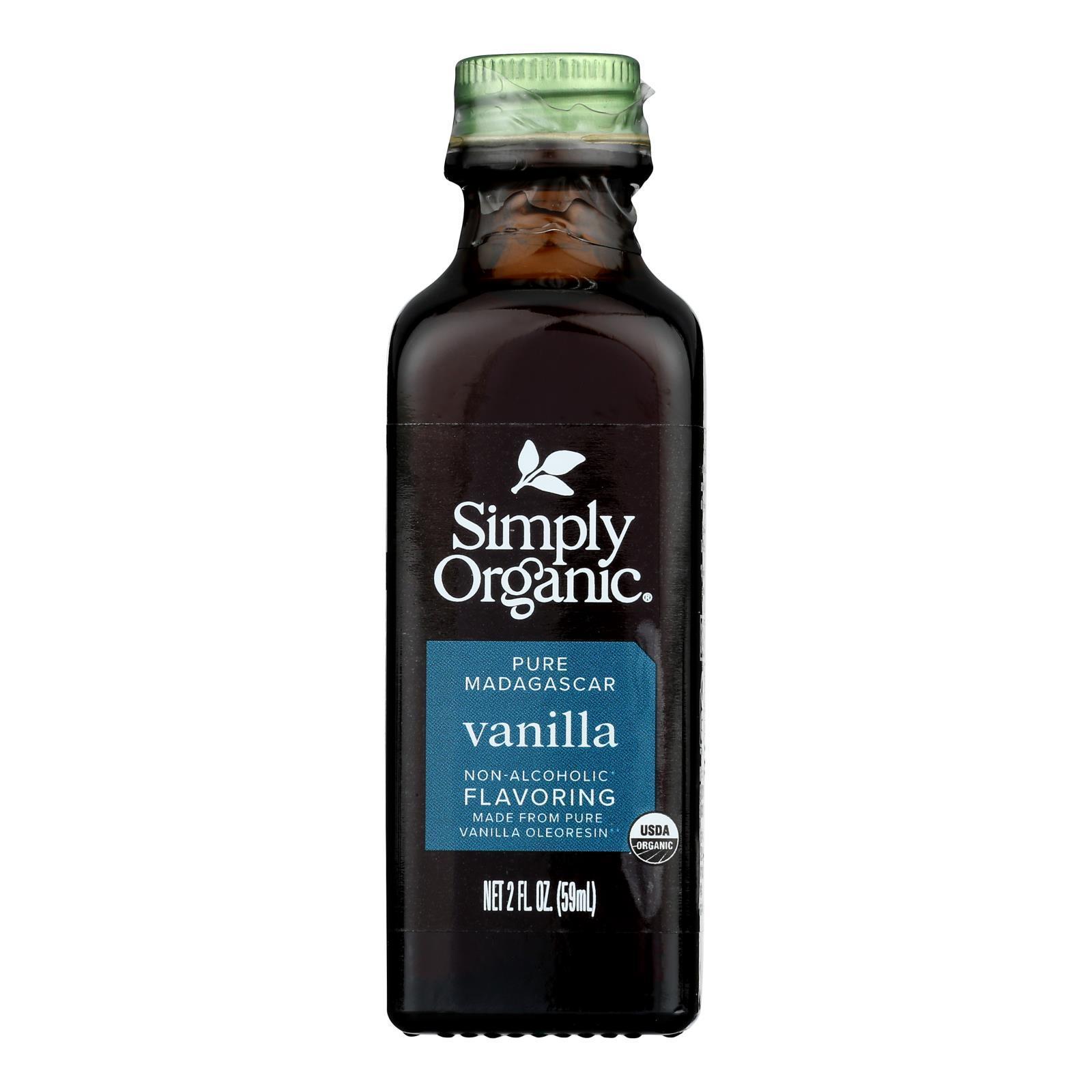 Simply Organic Vanilla Flavoring - Organic - 2 oz - Case of 6