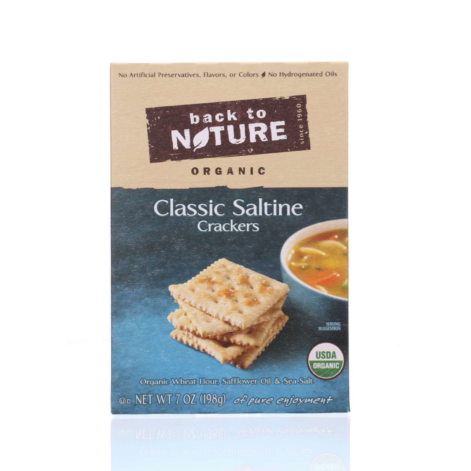 Back To Nature Crackers - Organic - Classic Saltine - 7 oz - case of 6