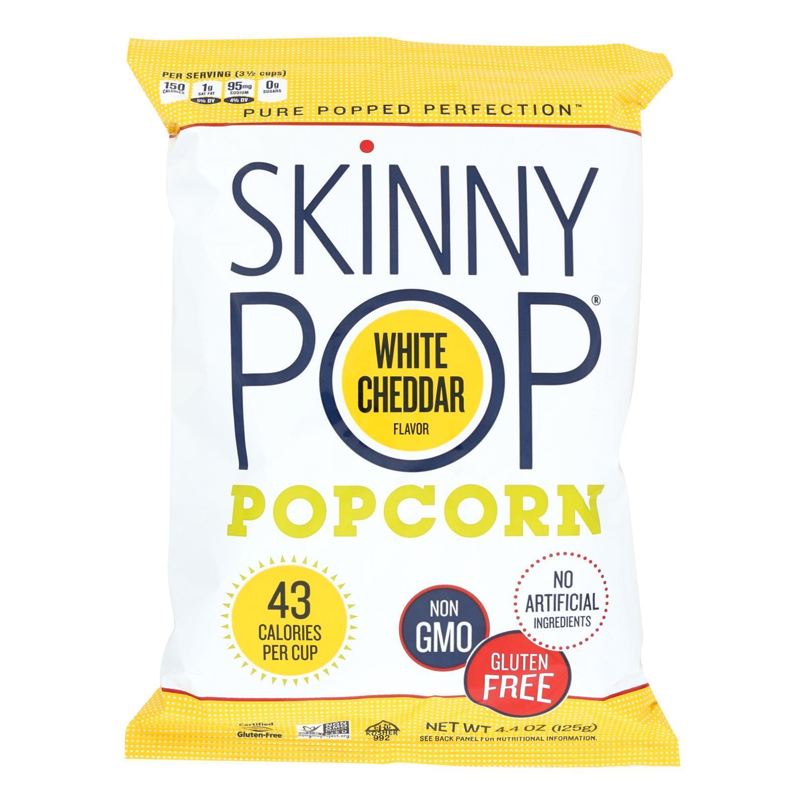 Skinnypop Popcorn Skinny Pop, White Cheddar, 4.4 oz