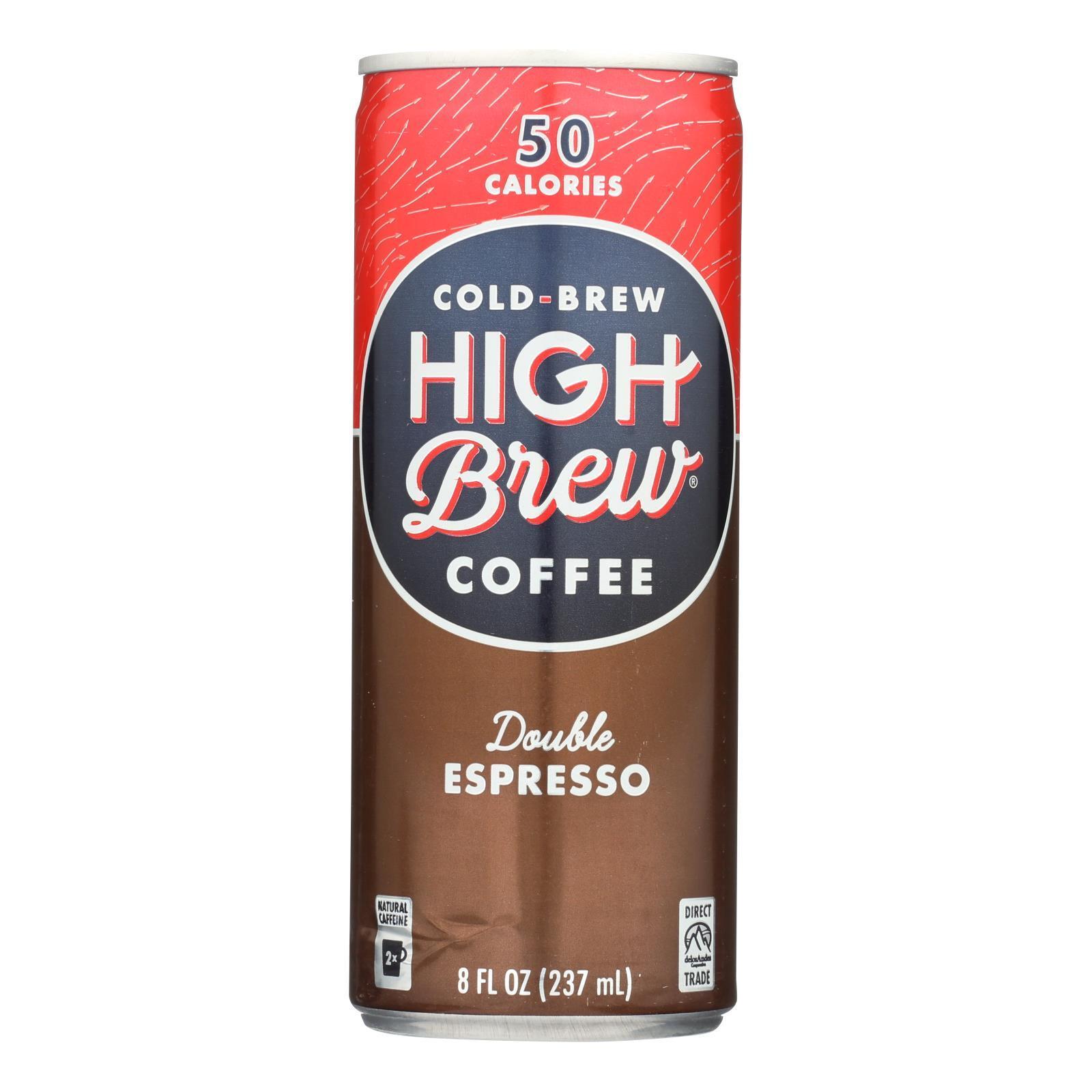 High Brew Coffee Coffee - Ready to Drink - Double Espresso - 8 oz - case of 12