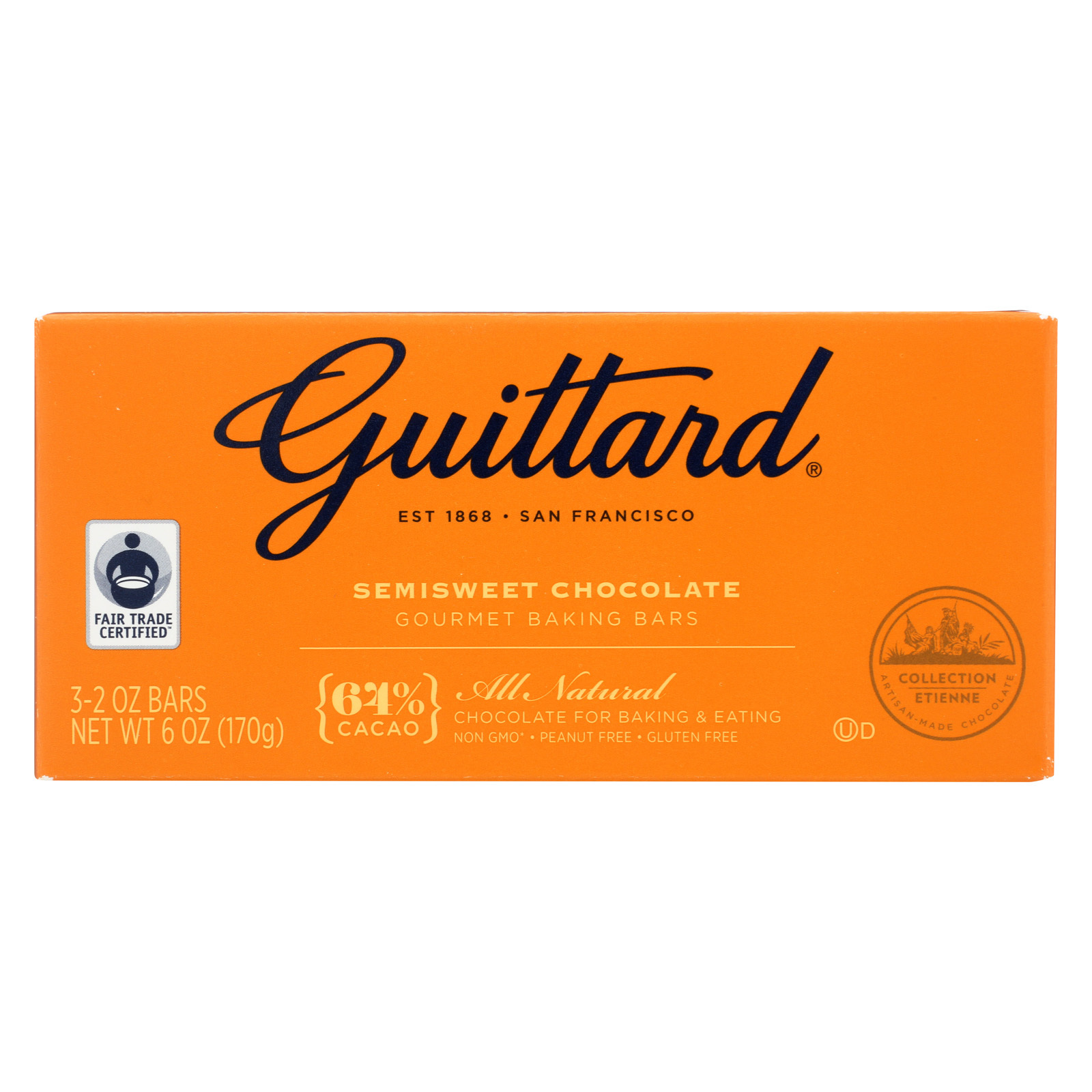 Guittard Chocolate Semisweet Chocolate - Baking - Case of 12 - 2 oz.