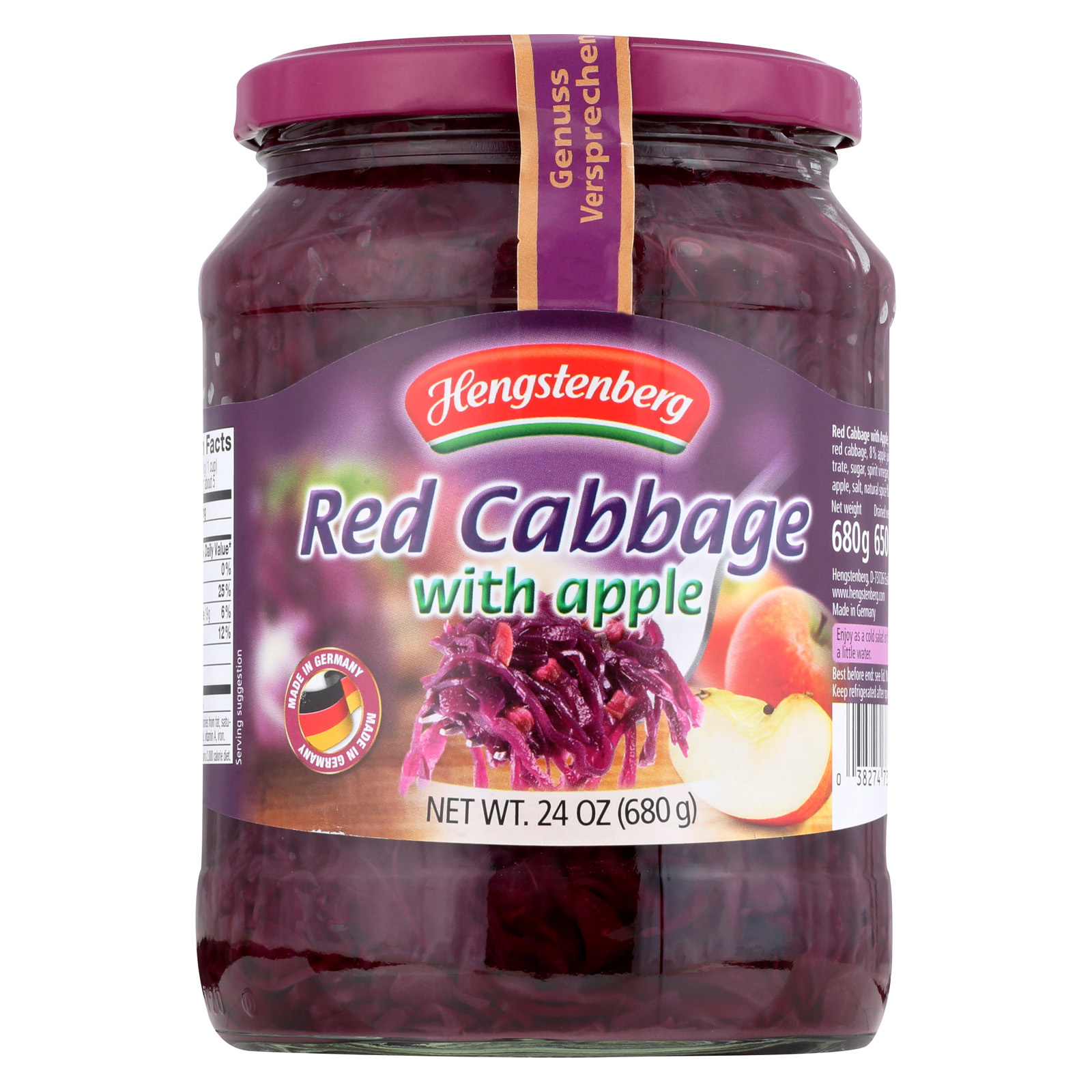 Hengstenberg Red Cabbage with Apple - 24.3 oz.