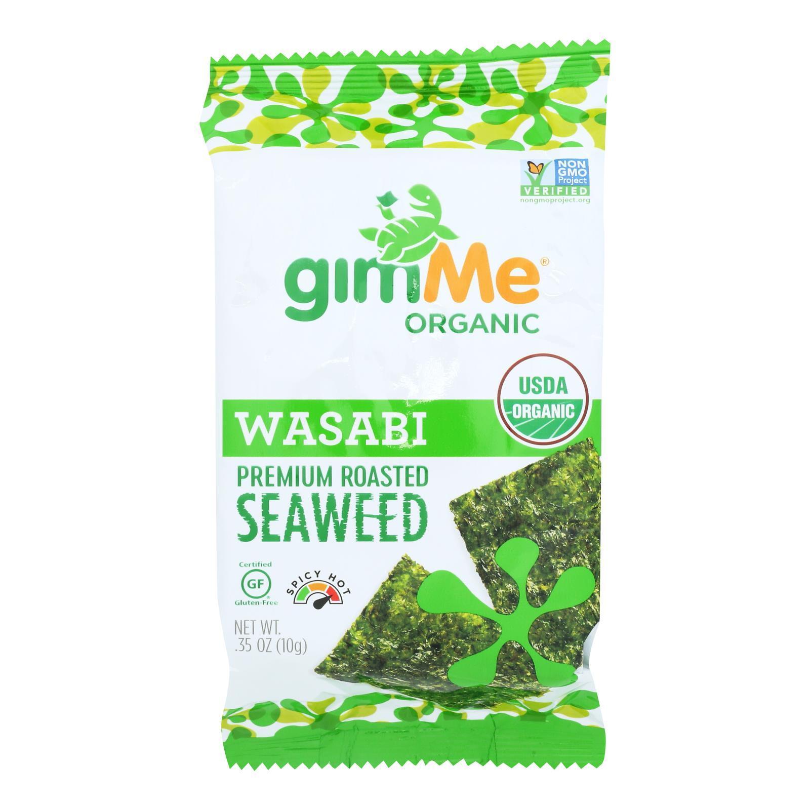 Gimme Organic Roasted - Wasabi - Case of 12 - 0.35 oz.