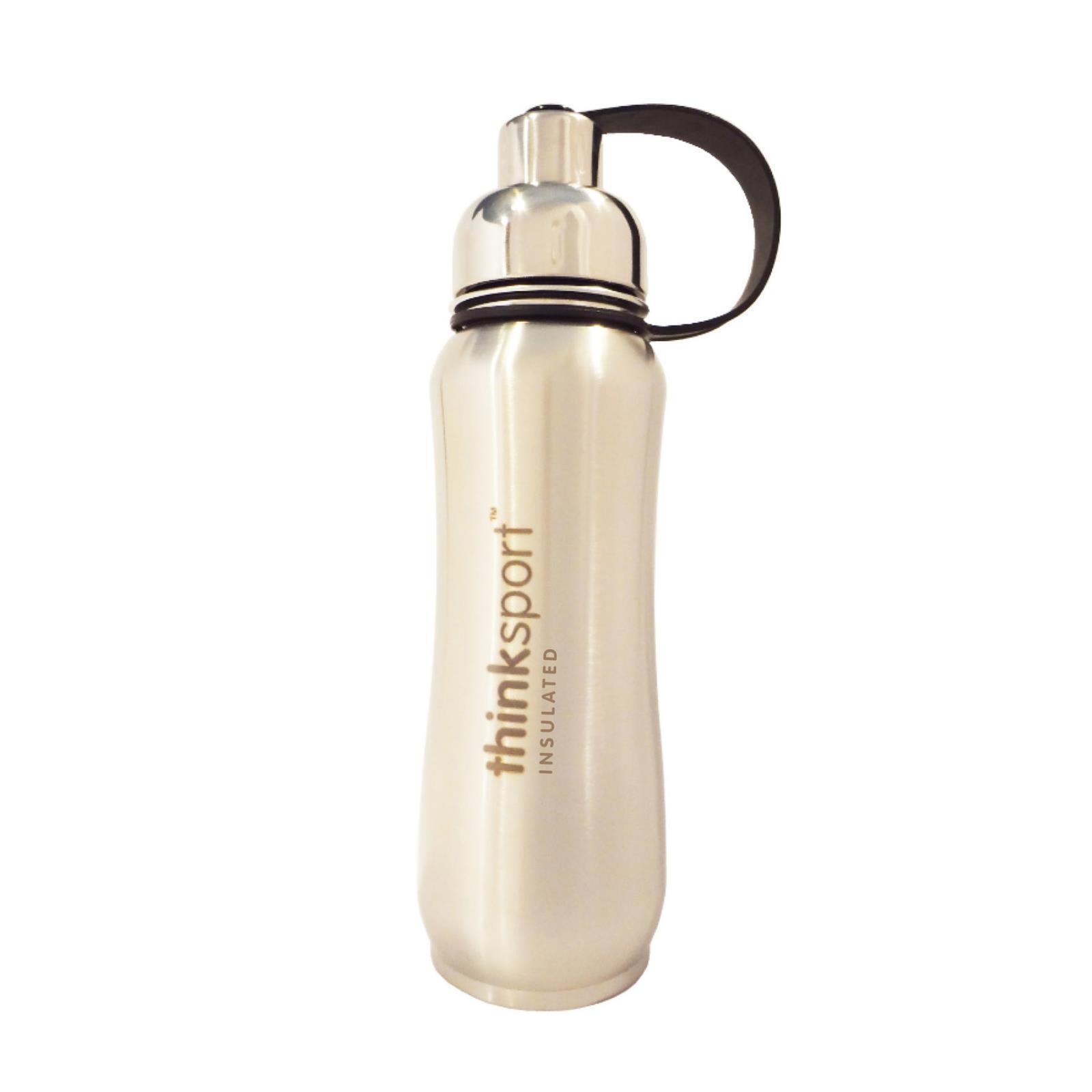 Thinksport Insulated Sports Bottle - Silver - 17 fl oz