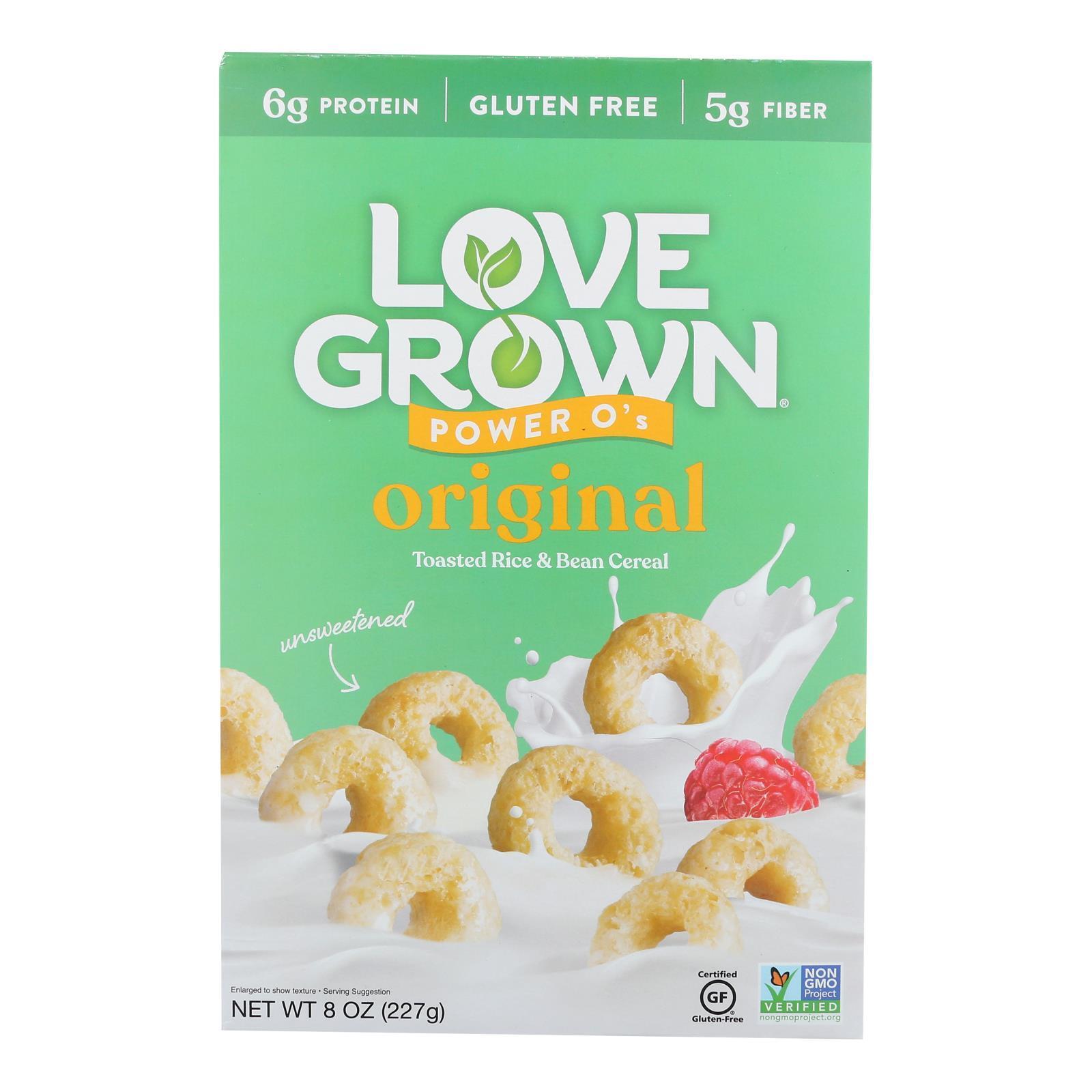 Love Grown Foods Power O's Cereal - Original - Case of 6 - 8 oz.