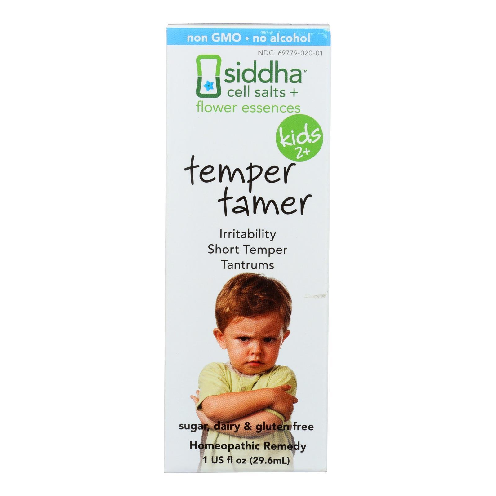 Siddha Flower Essences Temper Tamer - Kids - Age Two Plus - 1 fl oz