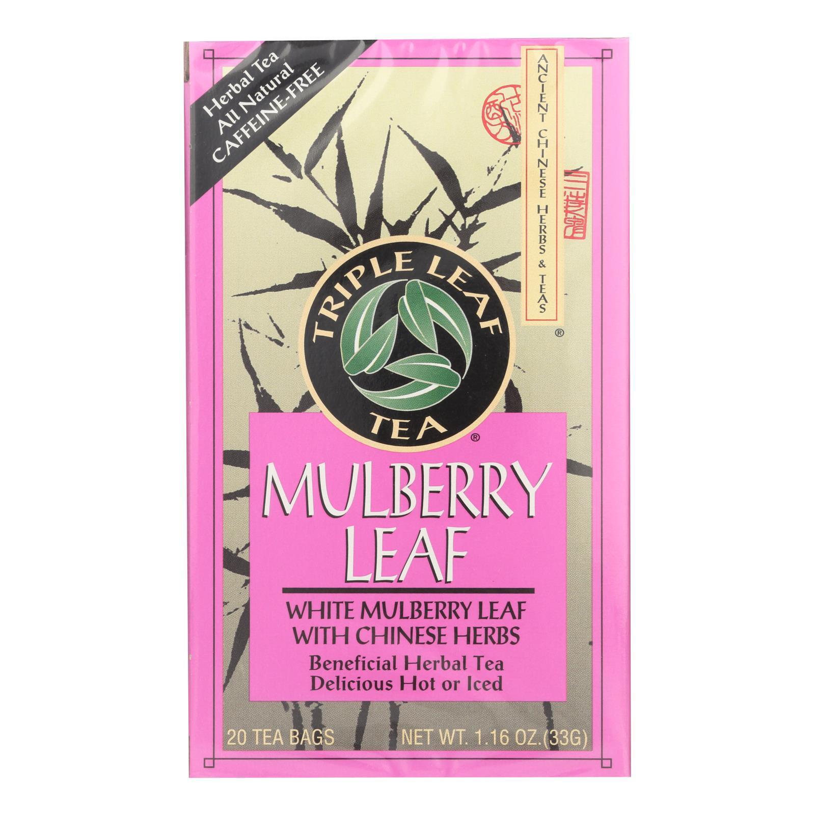 Triple Leaf Tea - Mulberry Leaf - 20 Tea Bags - 1 Case