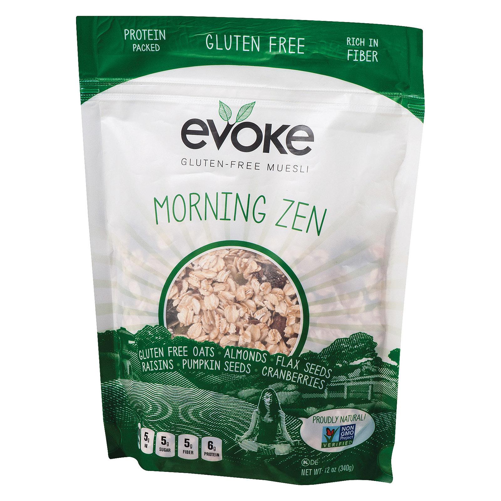 Evoke Healthy Foods Zen Gluten Free Muesli - Free Muesli - Case of 6 - 12 oz.