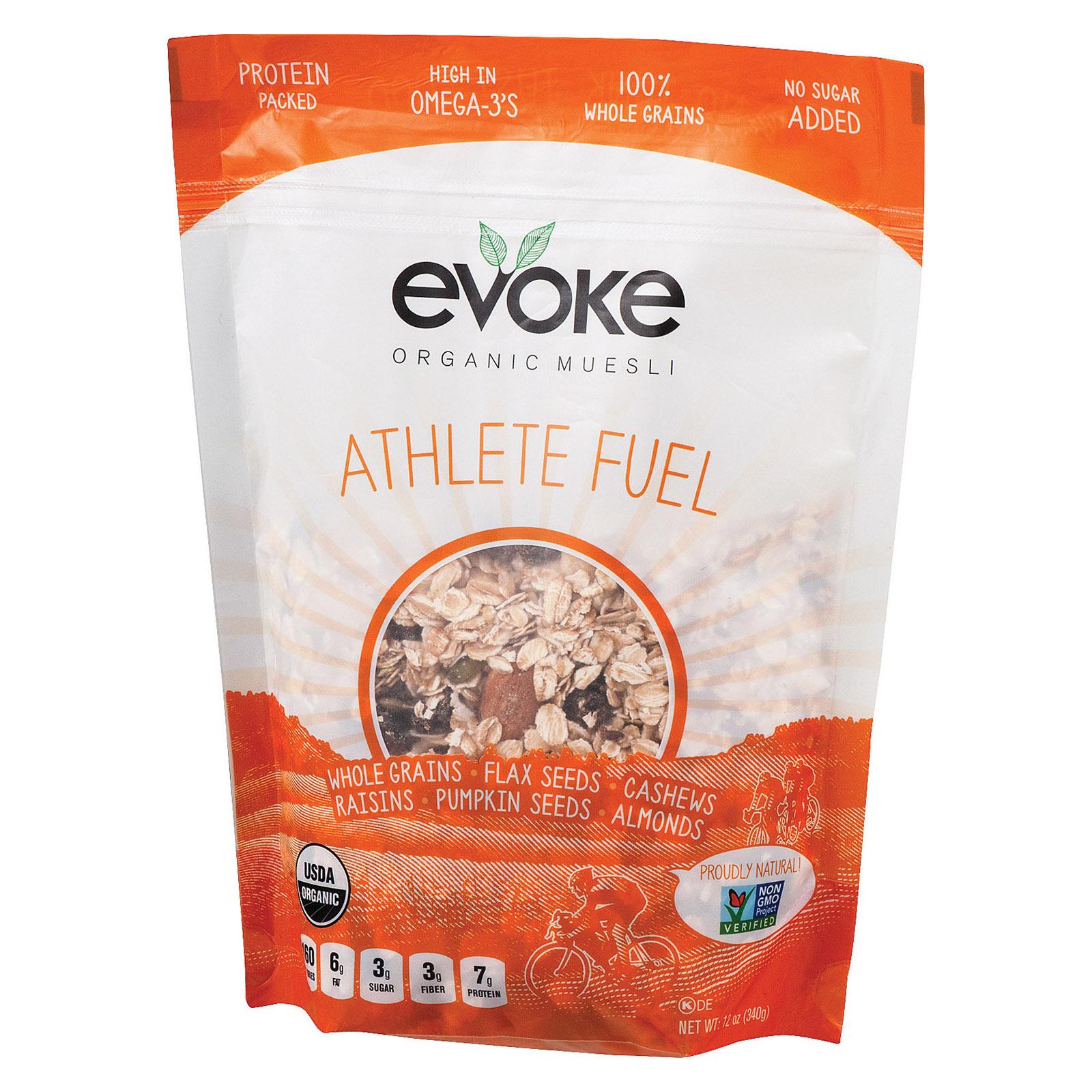 Evoke Healthy Foods Athlete Fuel Organic Muesli - Organic Muesli - Case of 6 - 12 oz.