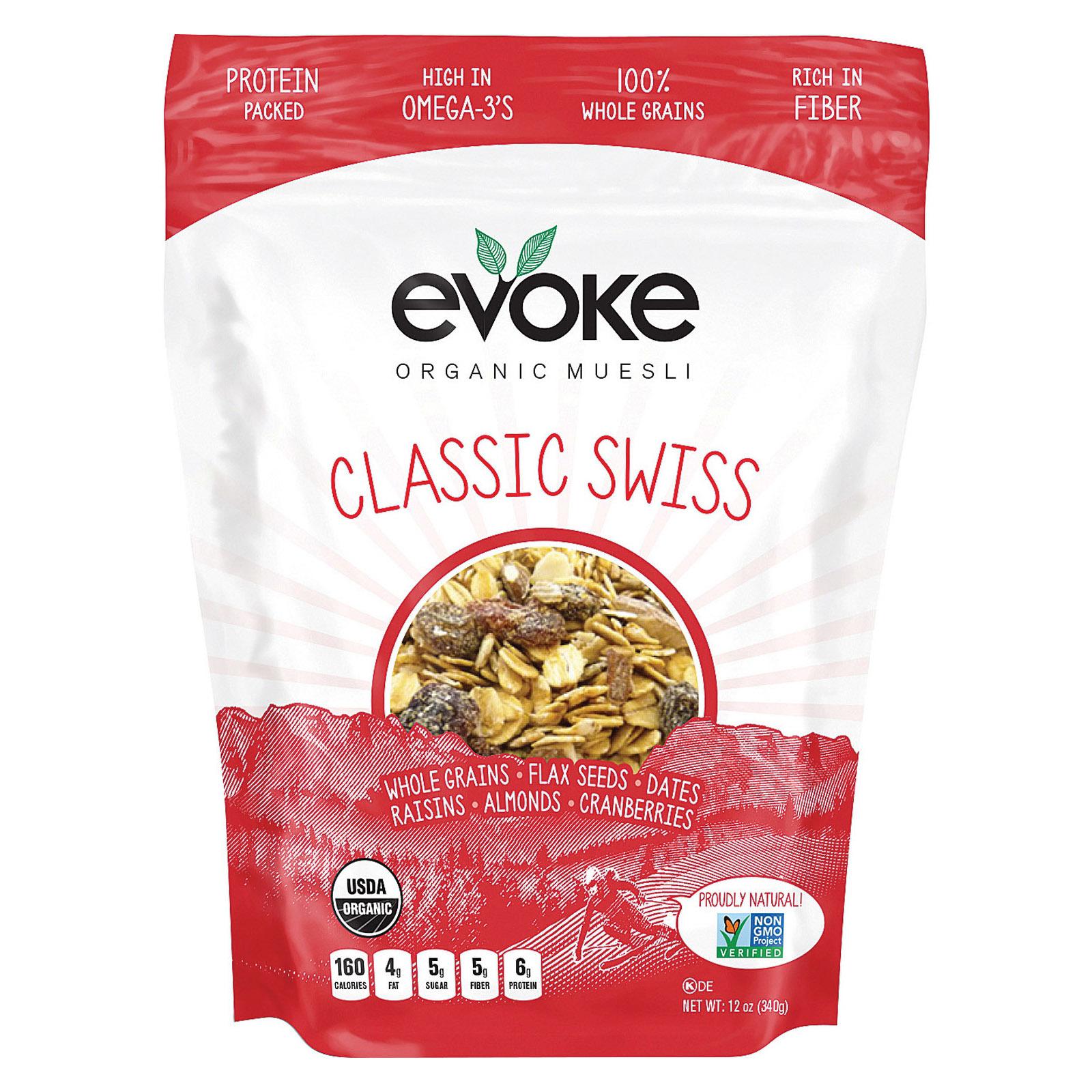 Evoke Healthy Foods Classic Swiss Organic Muesli - Organic Muesli - Case of 6 - 12 oz.