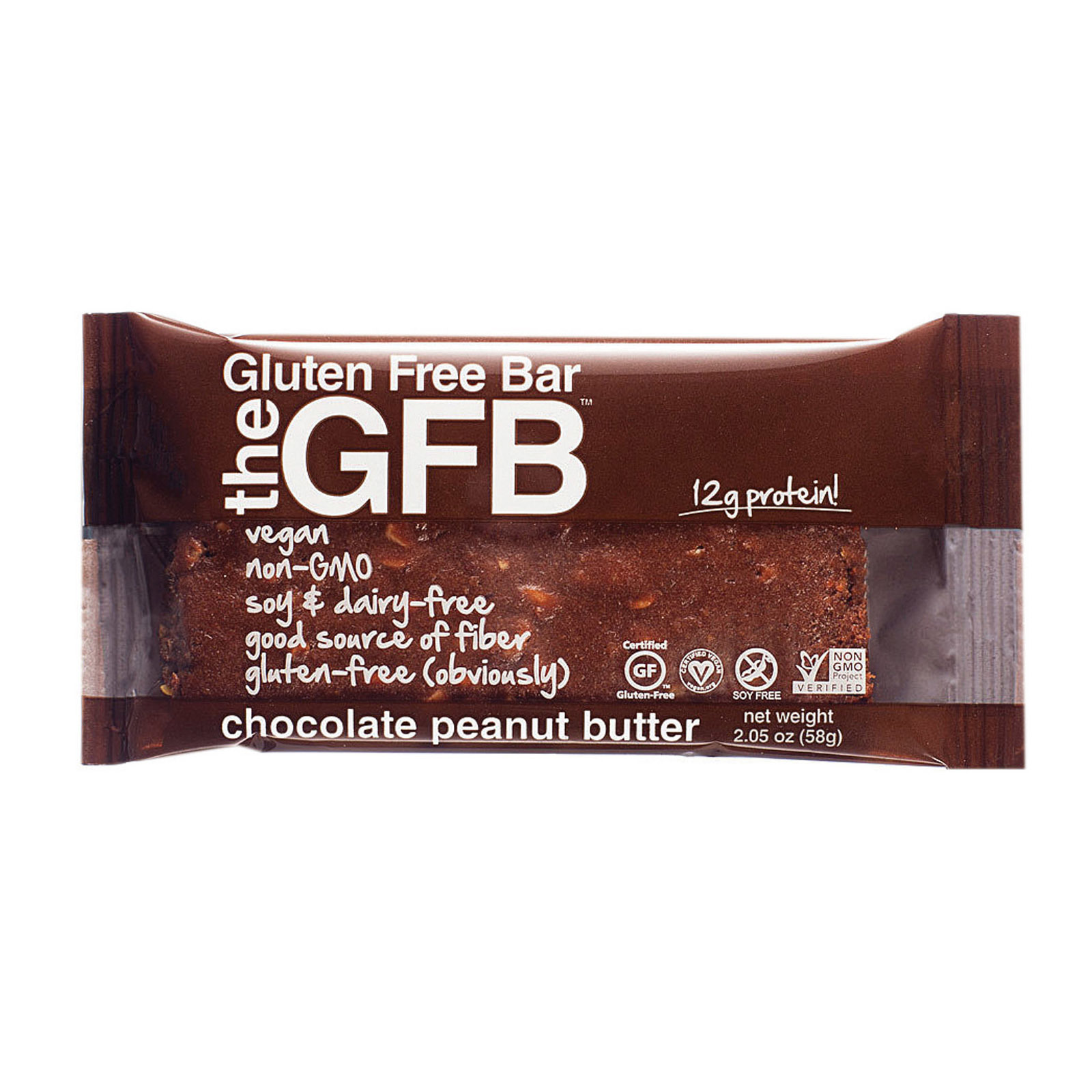 The Gluten Freeb Bar - Chocolate Peanut Butter - Gluten Free - Case of 12 - 2.05 oz