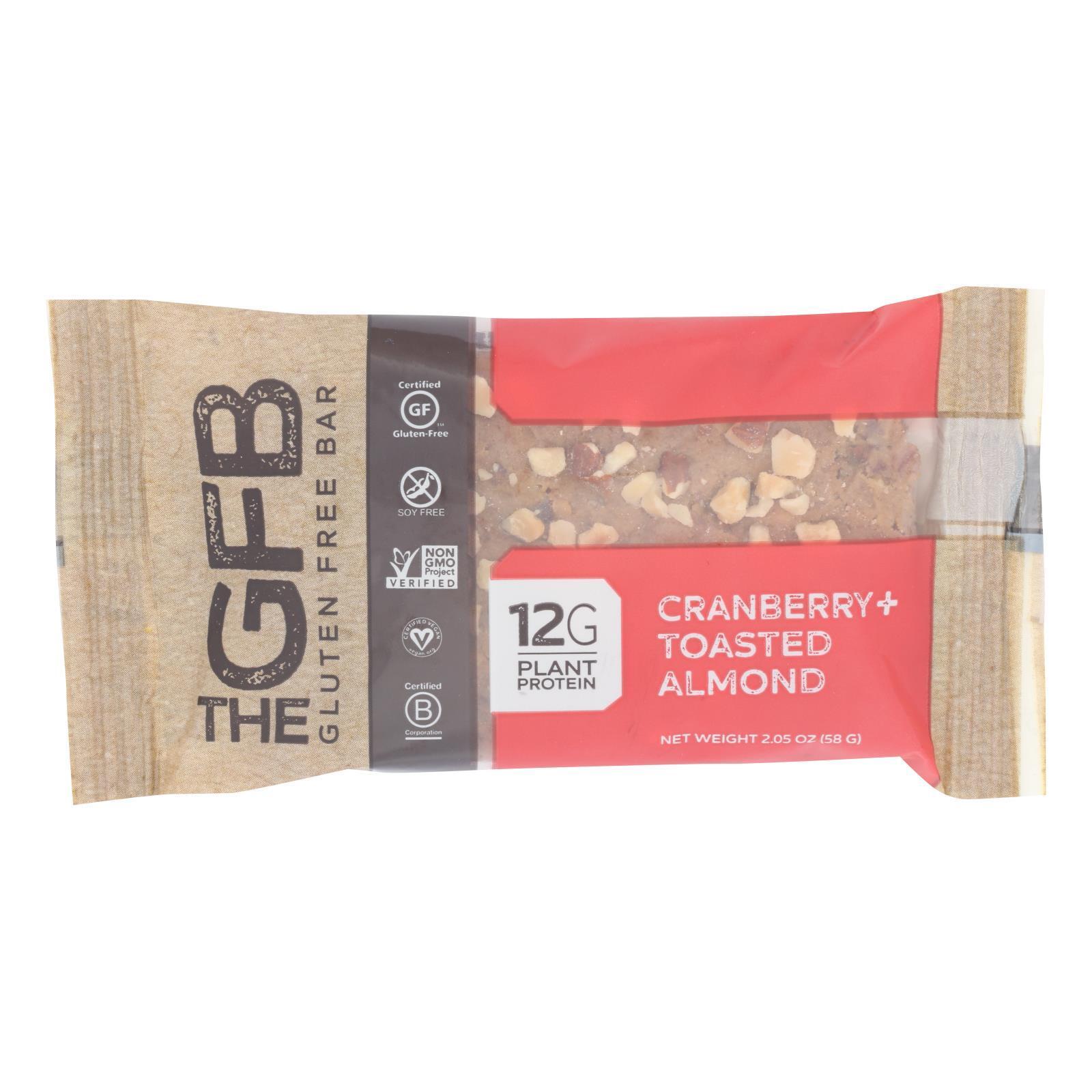 The Gluten Freeb Bar - Cranberry Toasted Almond - Gluten Free - Case of 12 - 2.05 oz