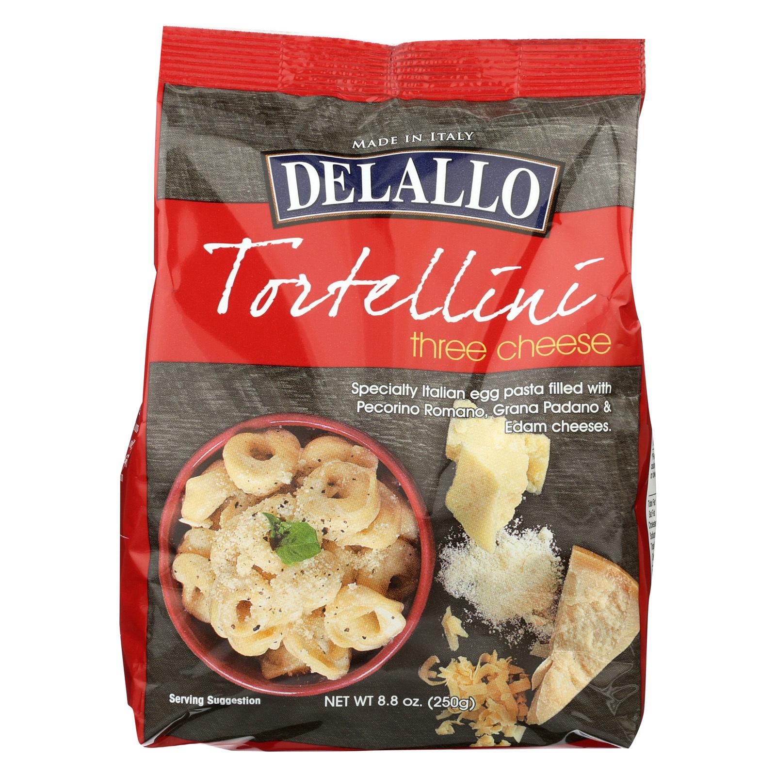 Delallo Tortelini - 3 Cheese - Case of 12 - 8.8 oz