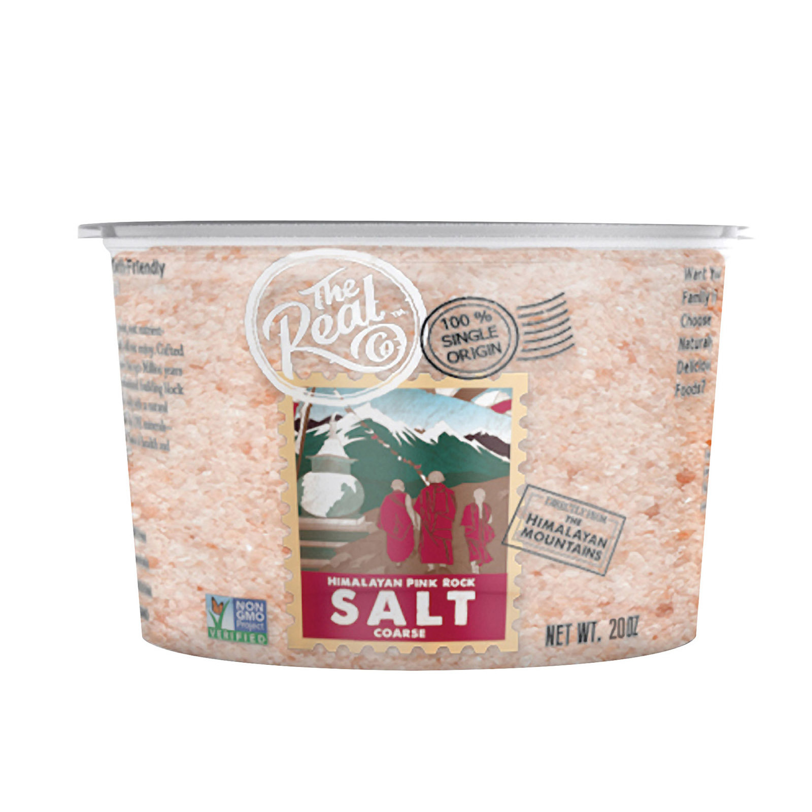The Real Company Himalayan Pink Rock Salt - Course - Case of 6 - 20 oz.