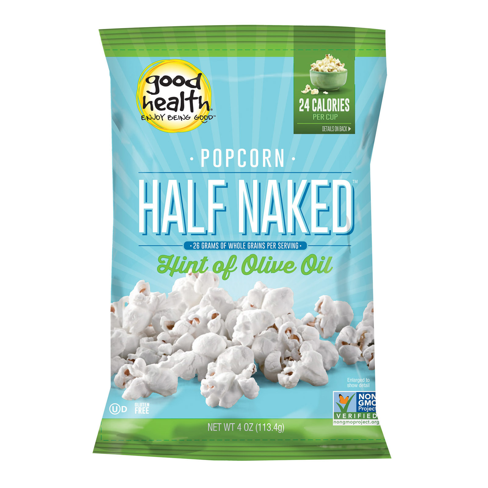 Good Health Popcorn - Half Naked - Case of 9 - 4 oz.