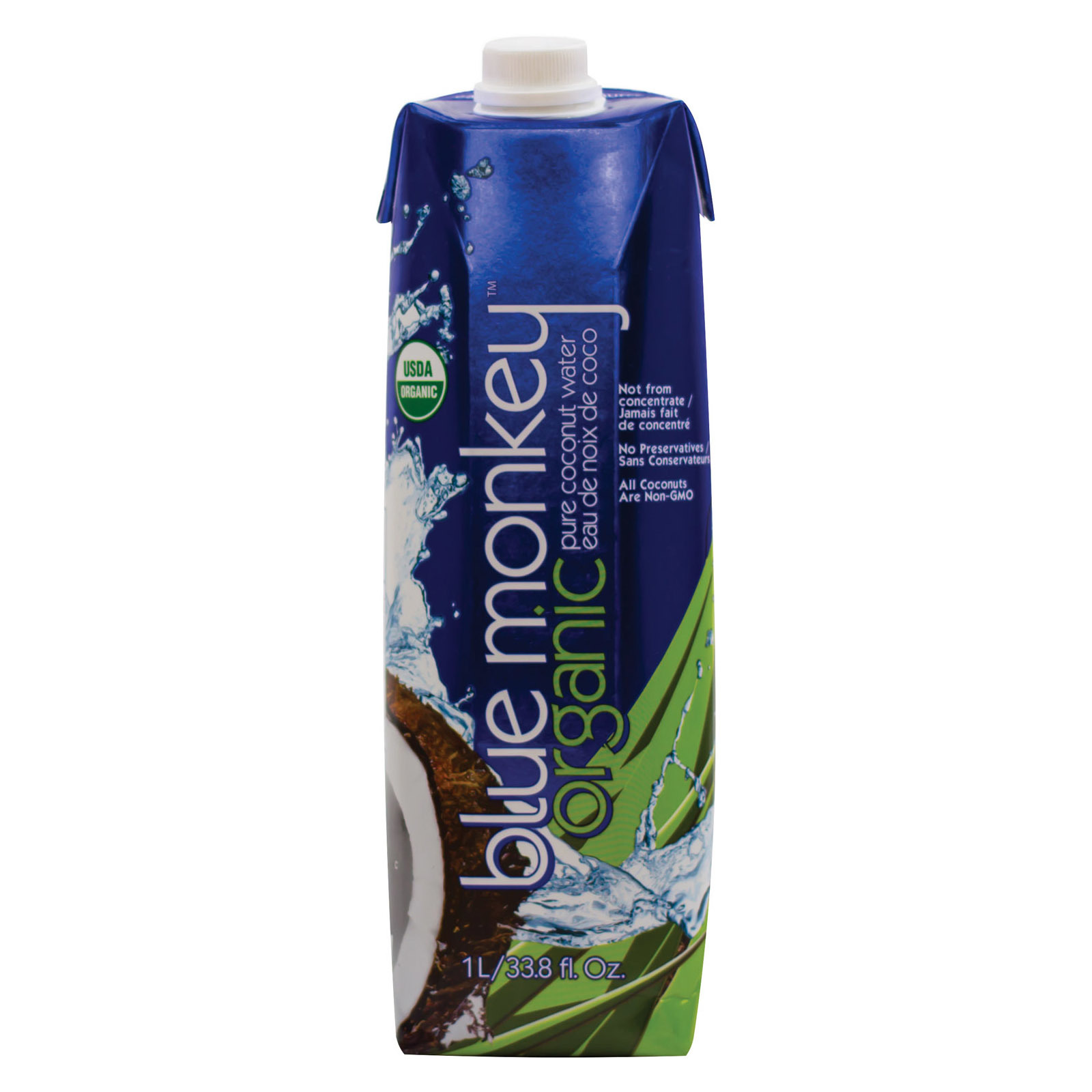 Blue Monkey Coconut Collection Water - Coconut - Case of 12 - 33.8 Fl oz.