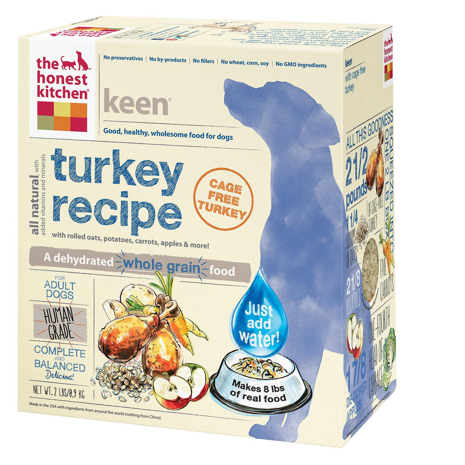 The Honest Kitchen Keen - Whole Grain Turkey Dog Food - Case of 6 - 2 lb.