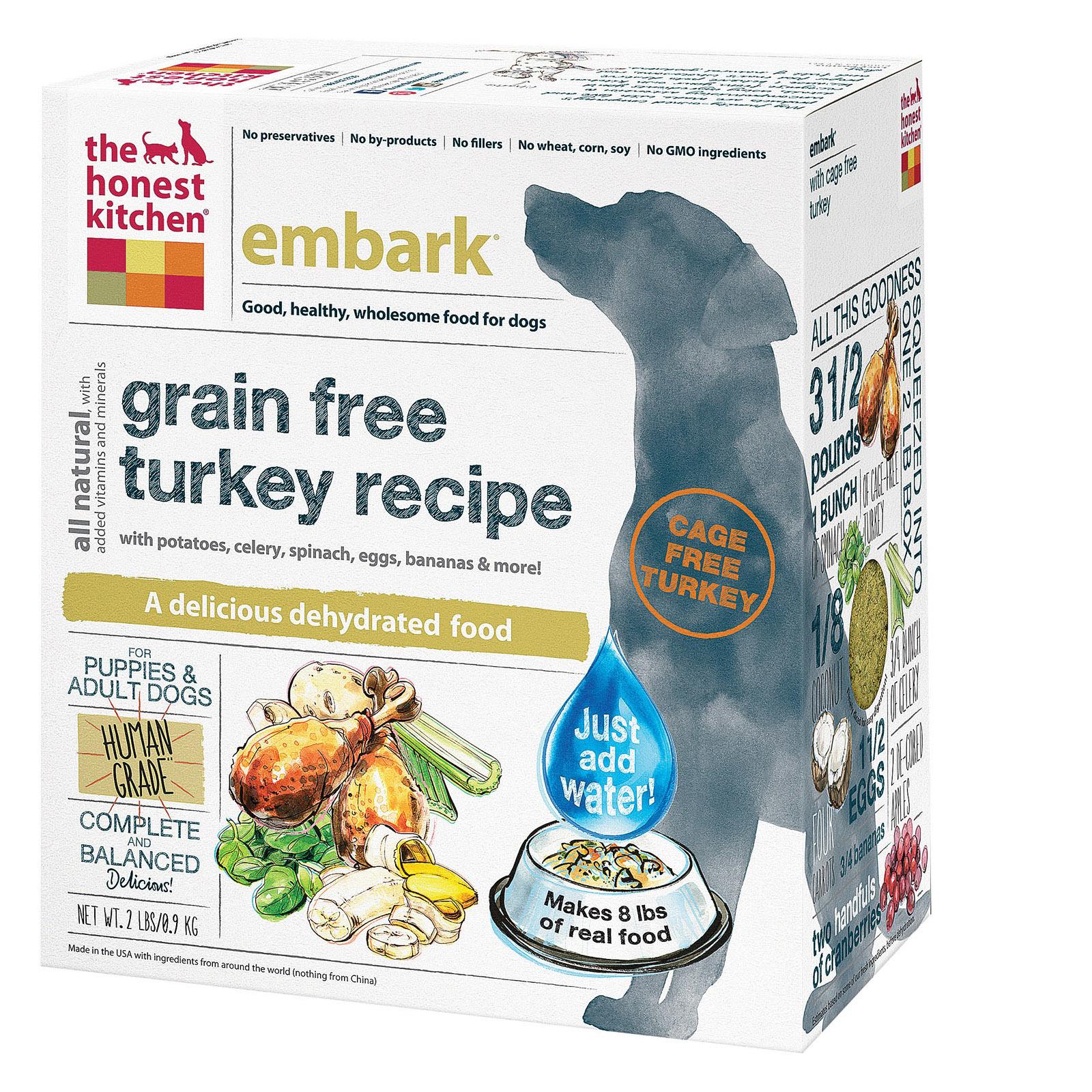 The Honest Kitchen Embark - Grain Free Turkey Dog Food - Case of 6 - 2 lb.