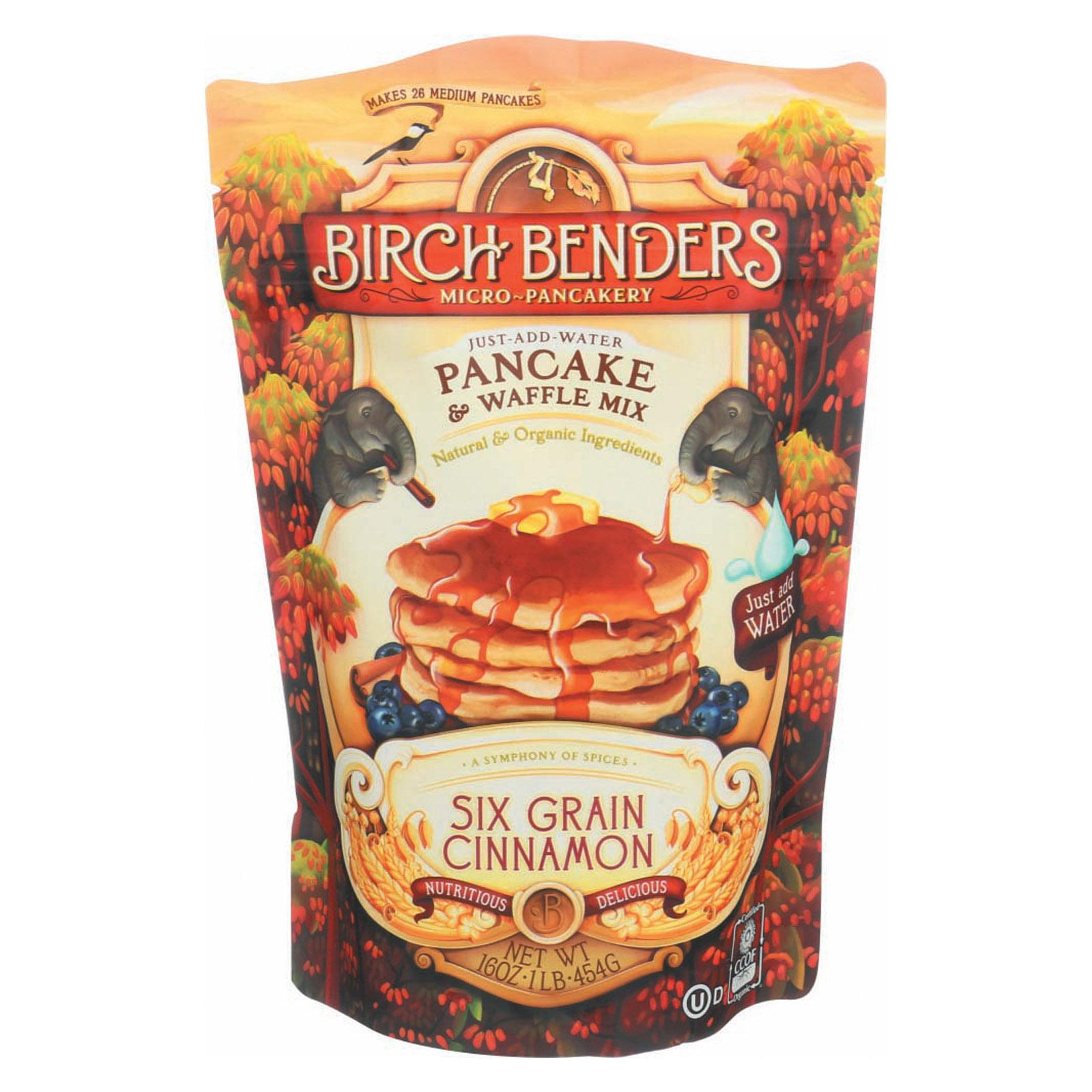 Birch Benders Pancake and Waffle Mix - Six Grain Cinnamon - Case of 6 - 16 oz.
