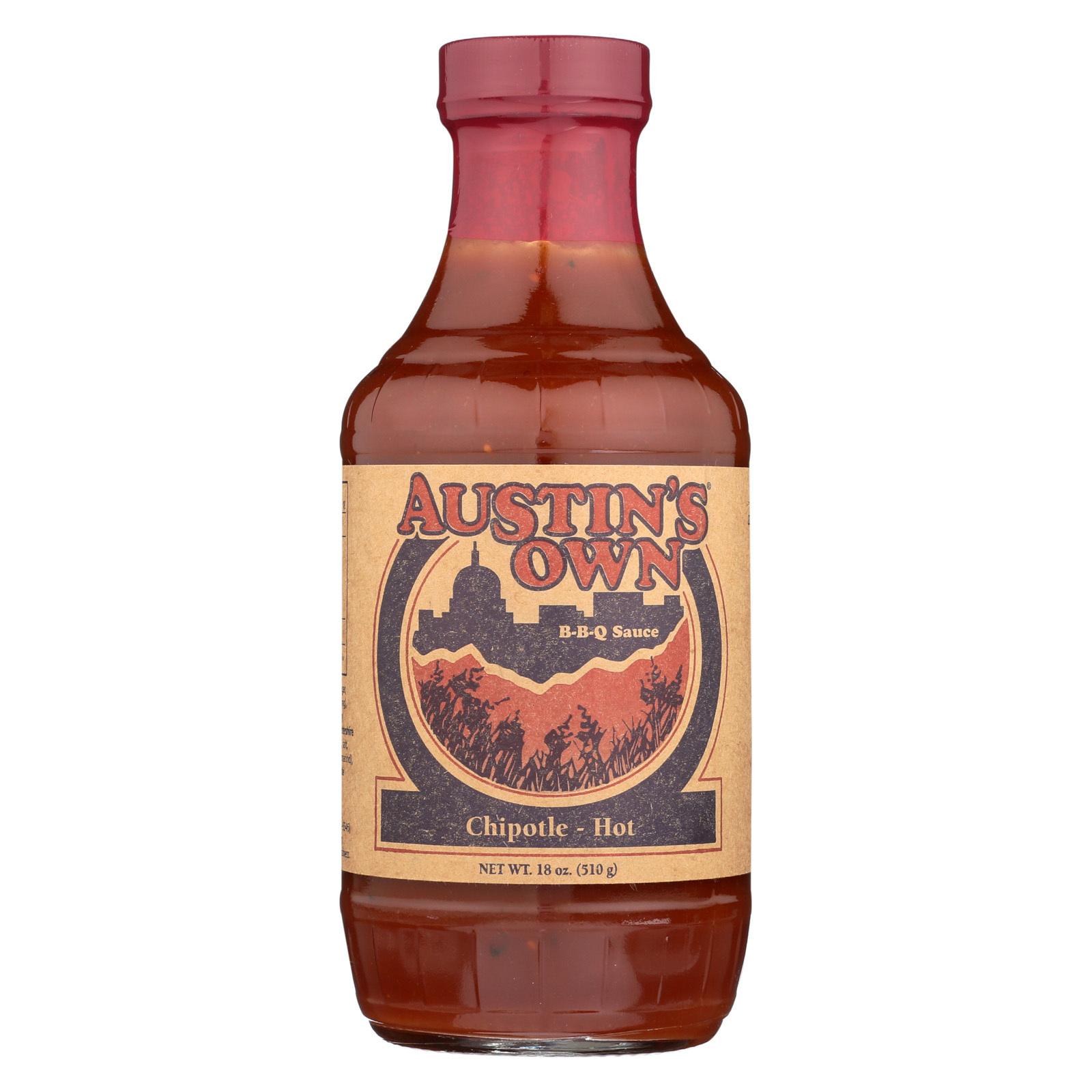 Austins Own BBQ Sauce - Chipotle - Case of 6 - 18 oz