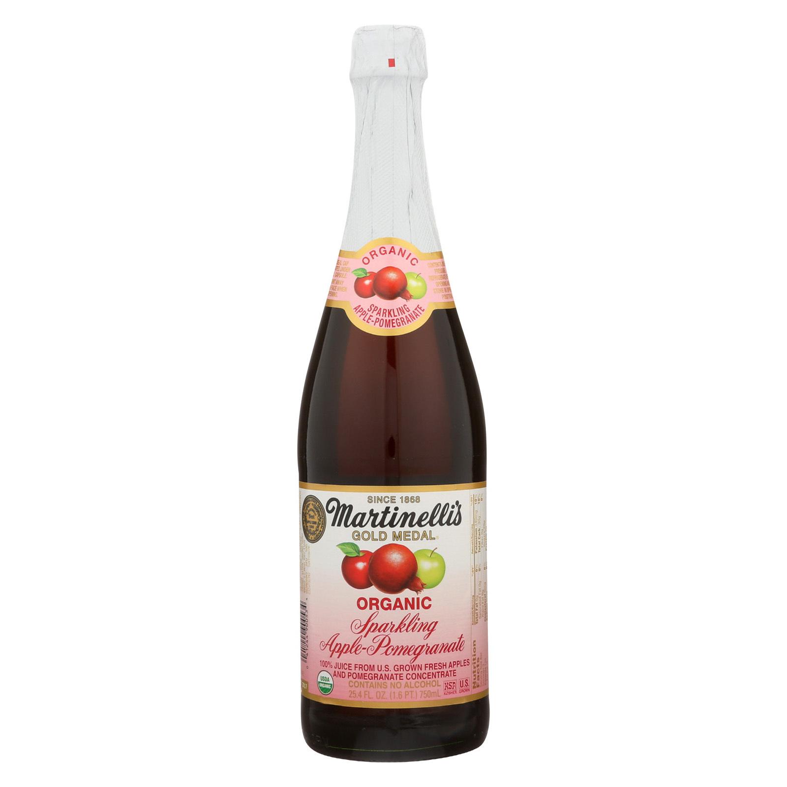Martinelli's Sparkling Juice - Apple Pomegranate - Case of 12 - 25.4 fl oz