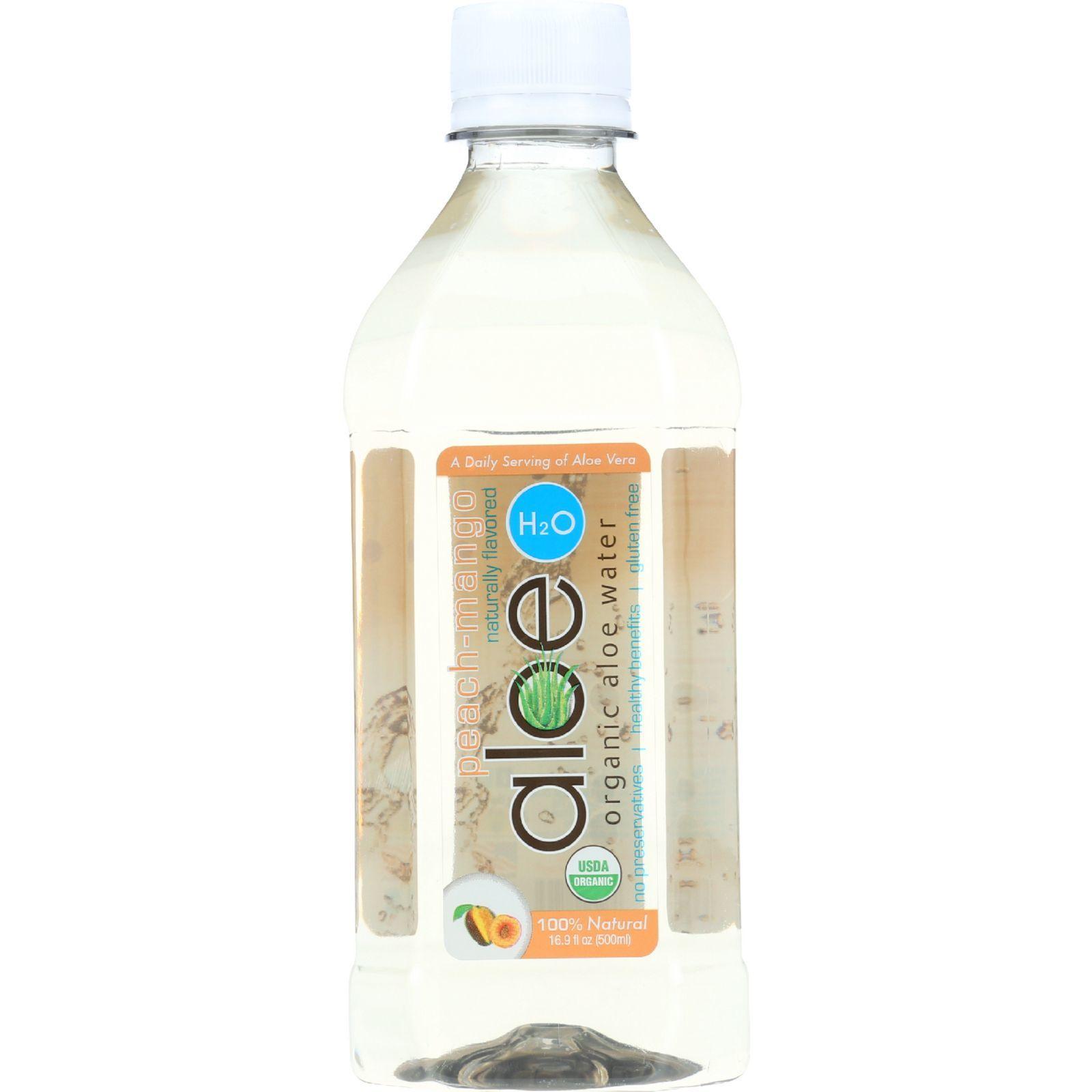 Lily Of The Desert Aloe H2O - Organic - Peach-Mango - Gluten Free - 16.9 oz - case of 12