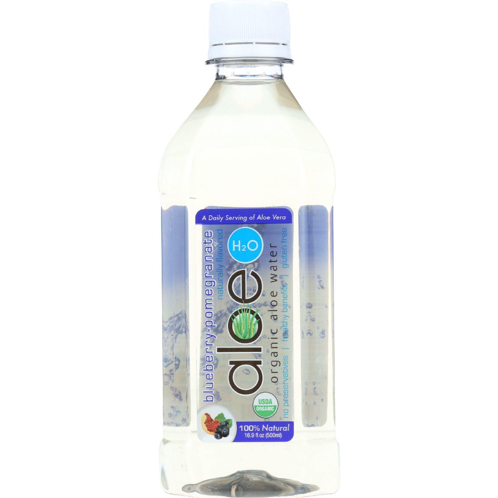 Lily Of The Desert Aloe H2O - Organic - Blueberry-Pomegranate - Gluten Free - 16.9 oz - case of 12