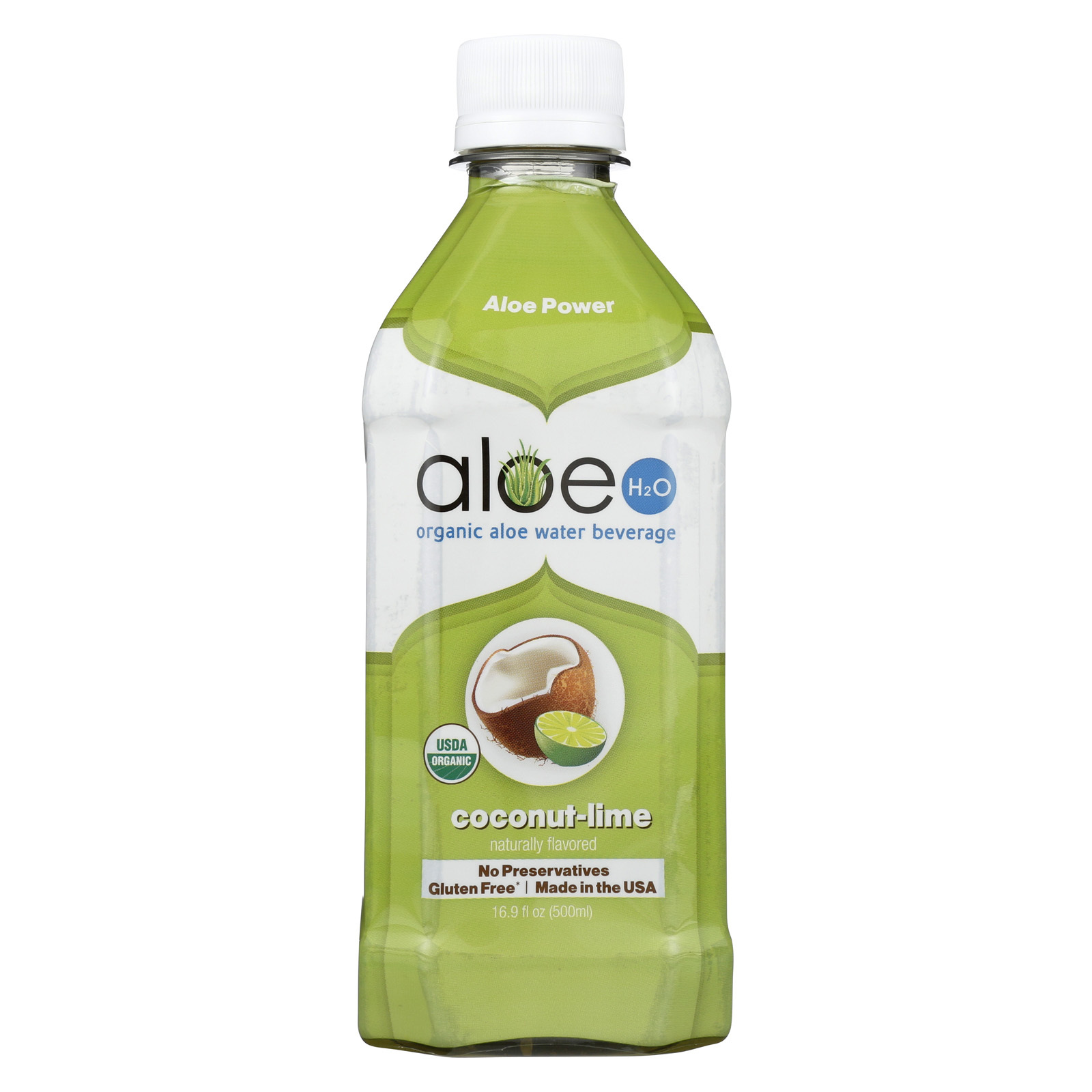 Lily of The Desert Aloe H20 - Coconut Lime - Case of 12 - 16.9 Fl oz.