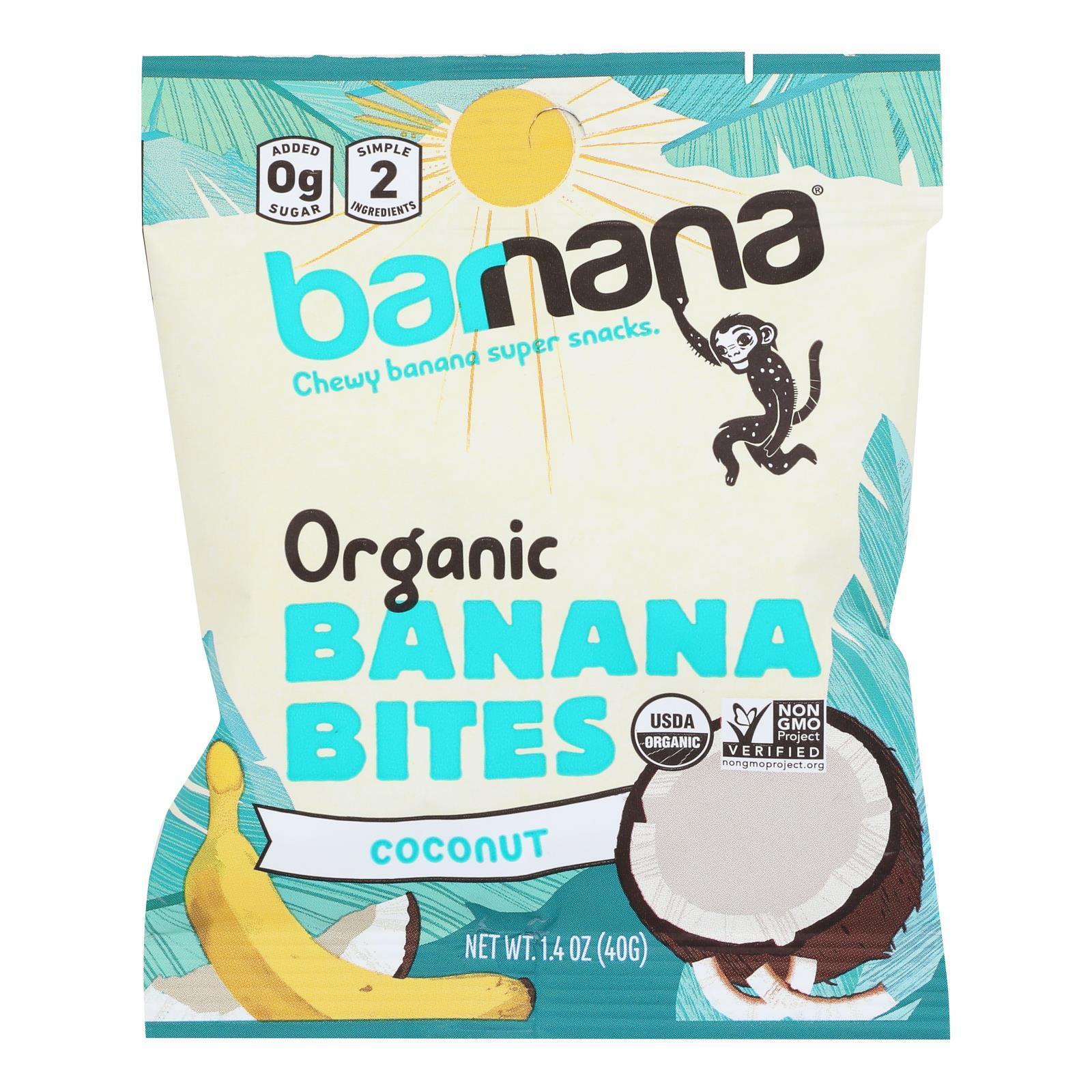 Barnana Organic Chewy Banana Bites - Coconut - Case of 12 - 1.4 oz