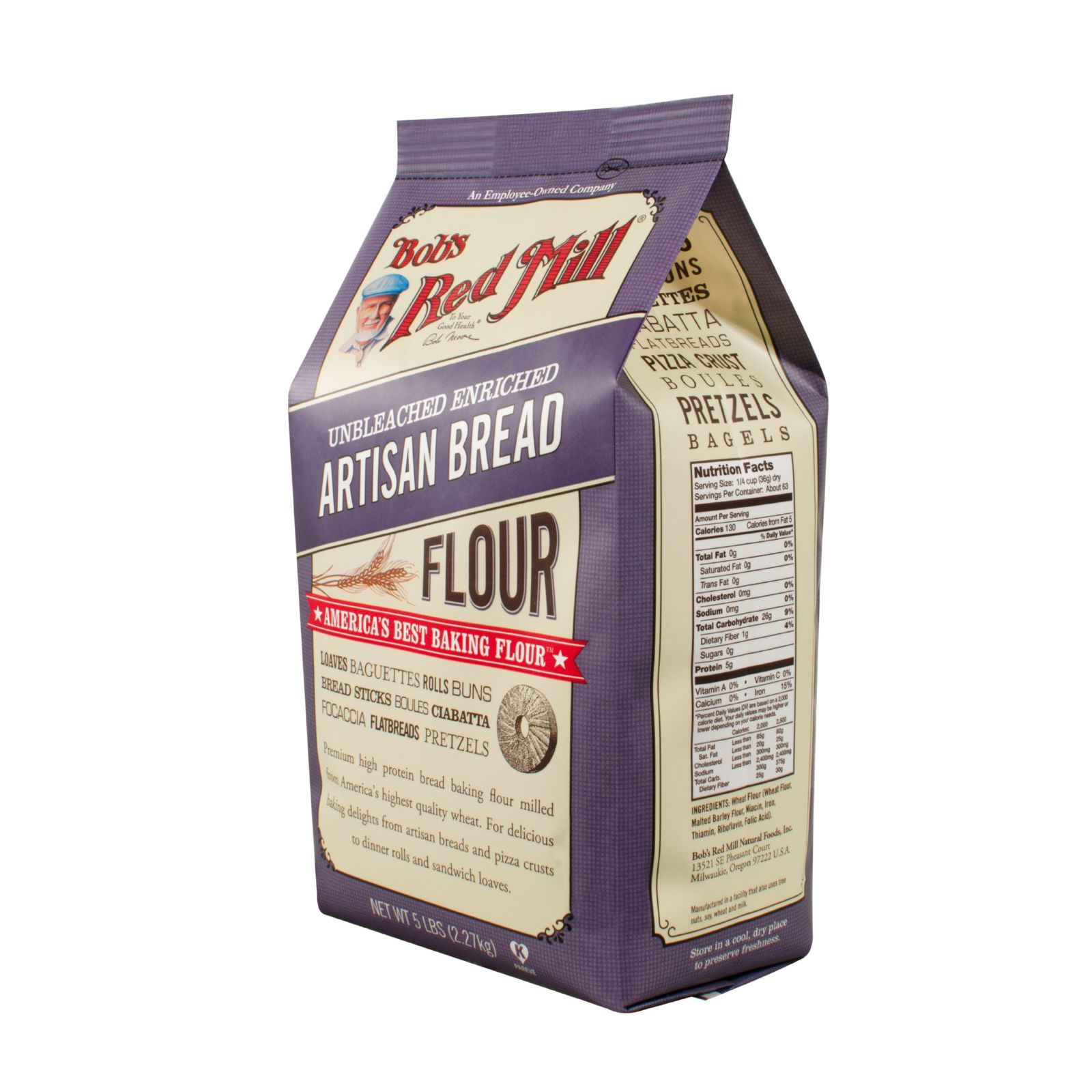 Bob's Red Mill Artisan Bread Flour - 5 lb - Case of 4