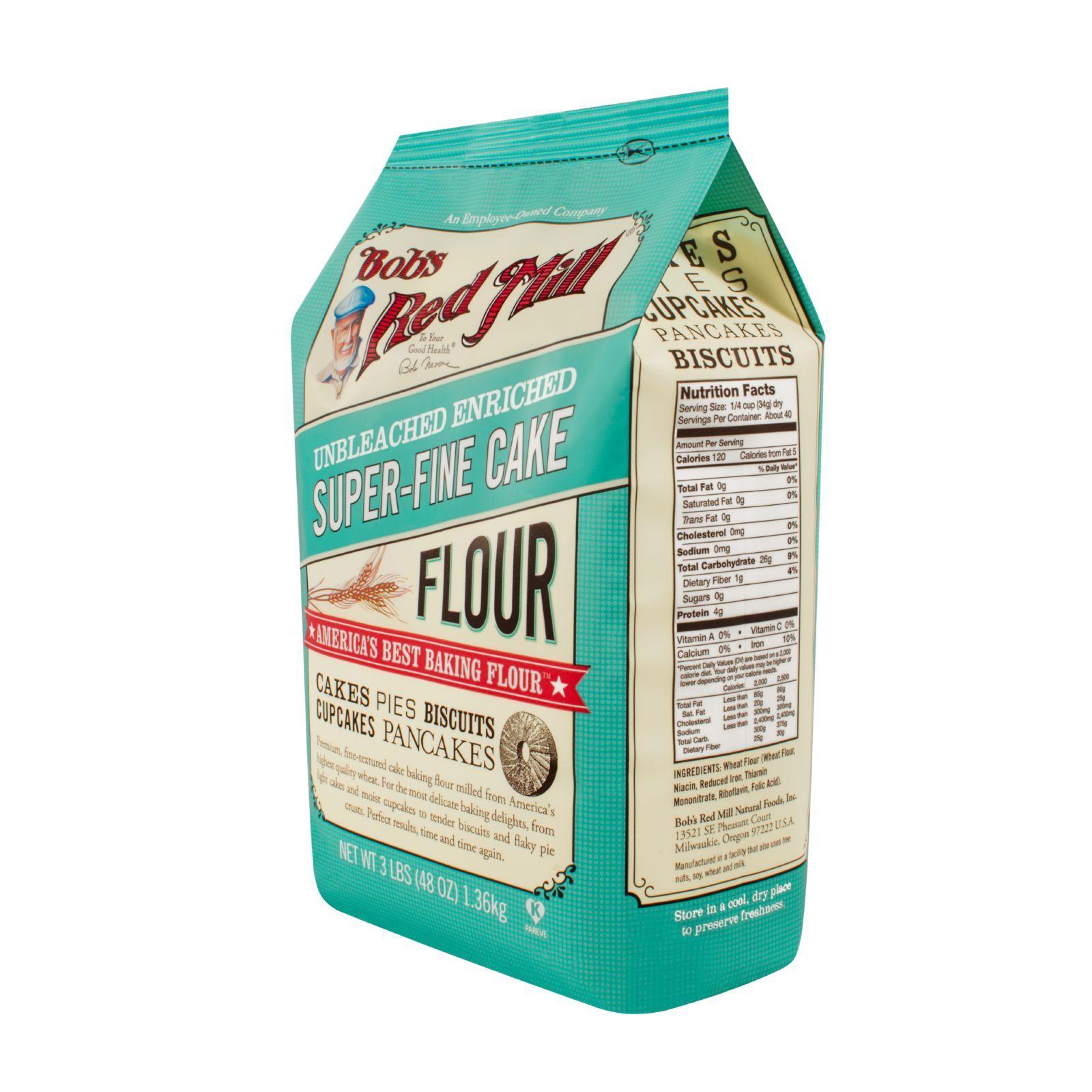 Bob's Red Mill Super-Fine Cake Flour - 48 oz - Case of 4