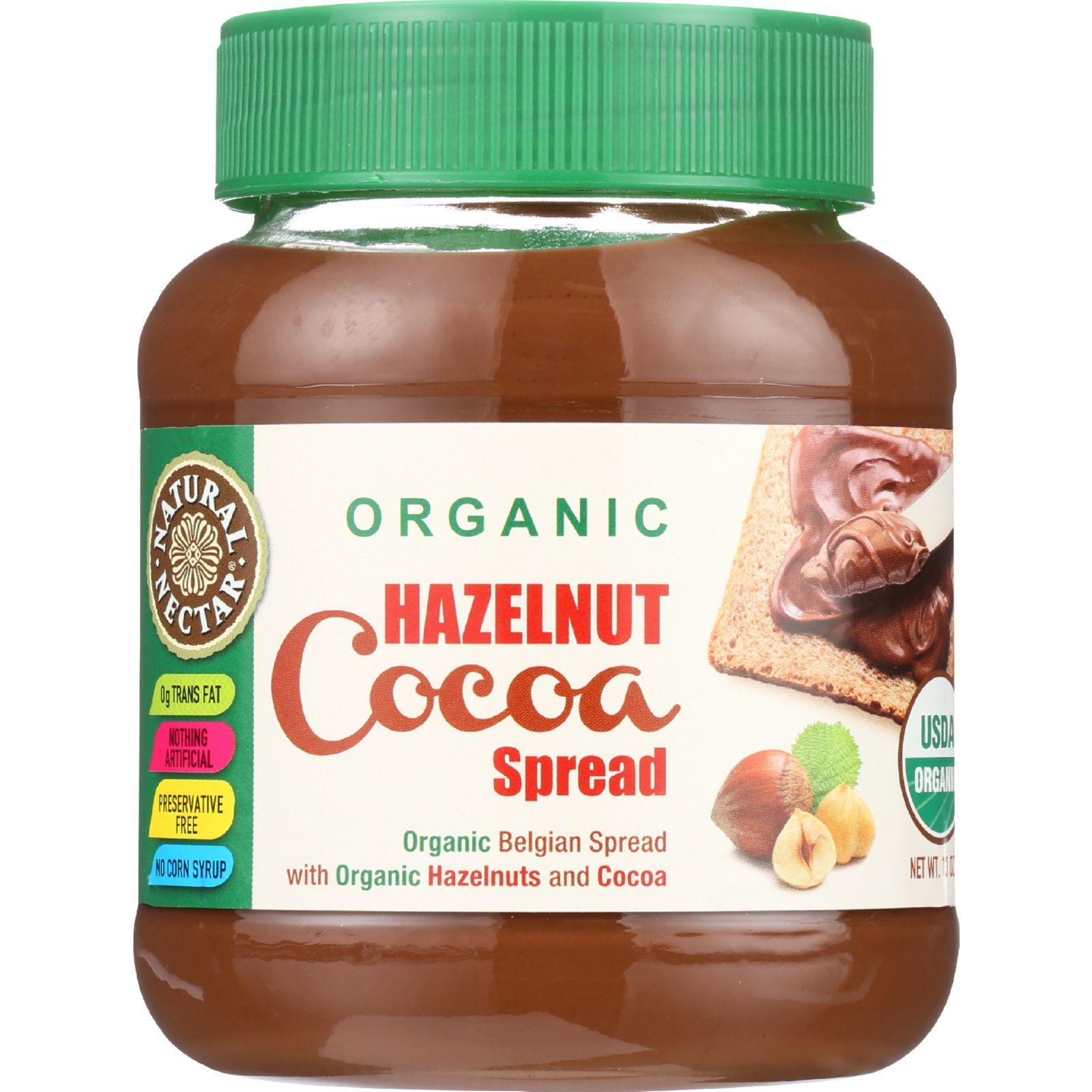 Natural Nectar Spread - Organic - Hazelnut Cocoa - 13 oz - case of 12