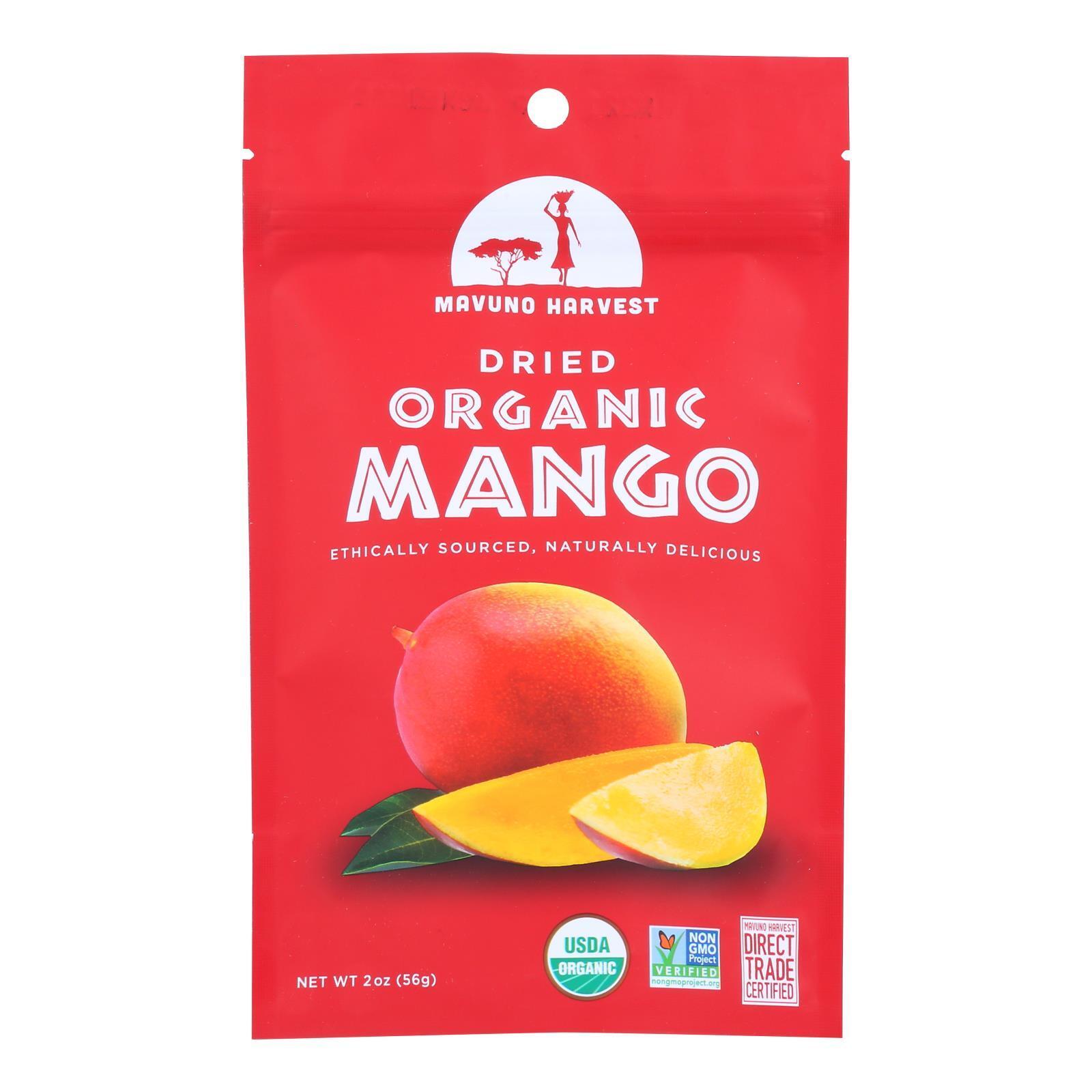 Mavuno Harvest Gluten - Free Dried Mango - Case of 6 - 2 oz.