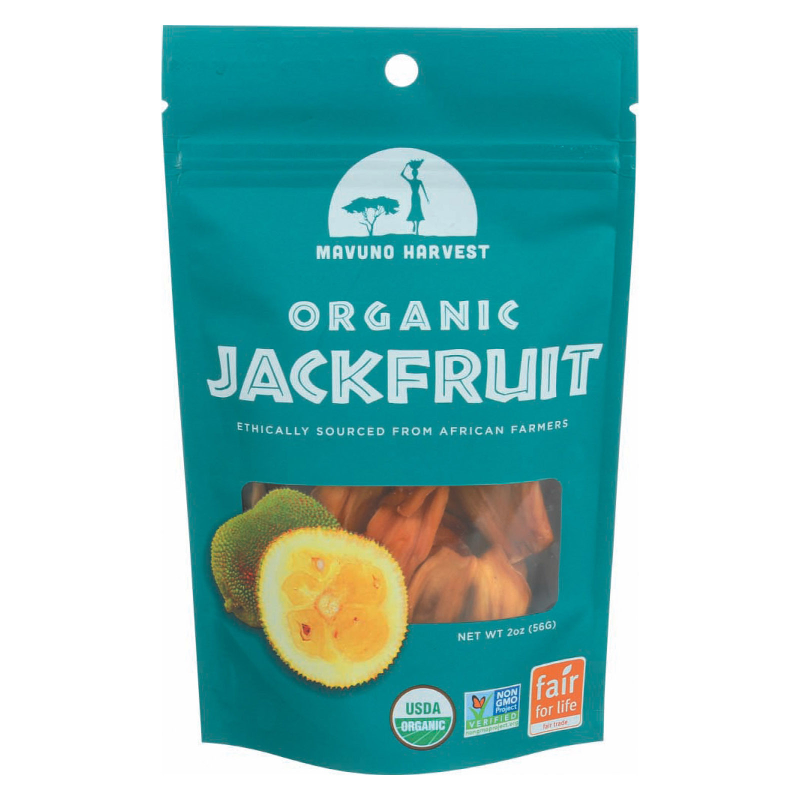 Mavuno Harvest Organic Dried Fruits - Jackfruit - Case of 6 - 2 oz.