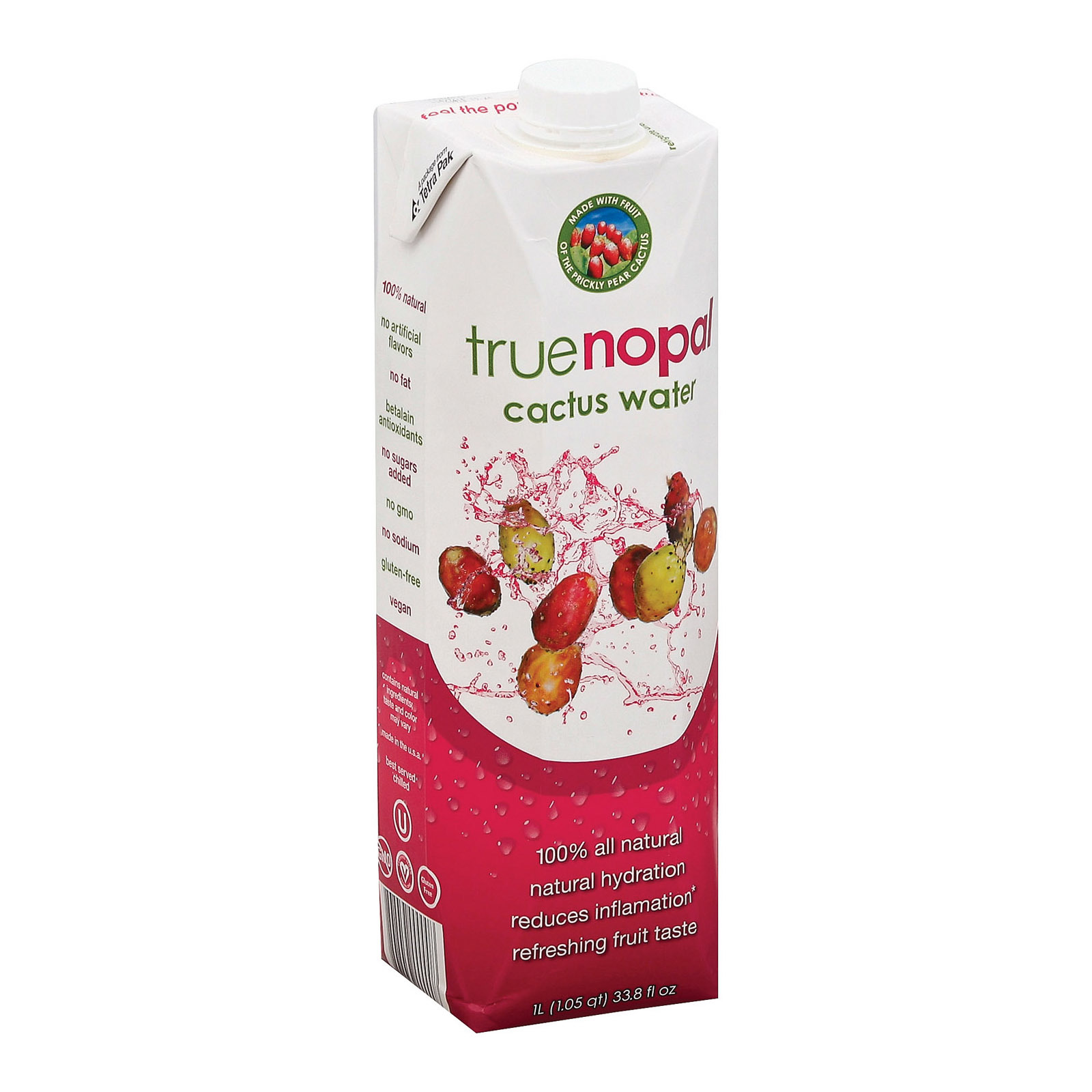 True Nopal Cactus Water - Case of 12 - 33.8 oz.