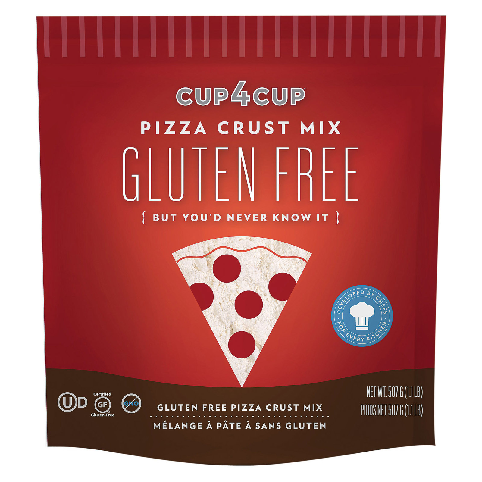Cup 4 Cup Pizza Crust Mix - Case of 6 - 18 oz.