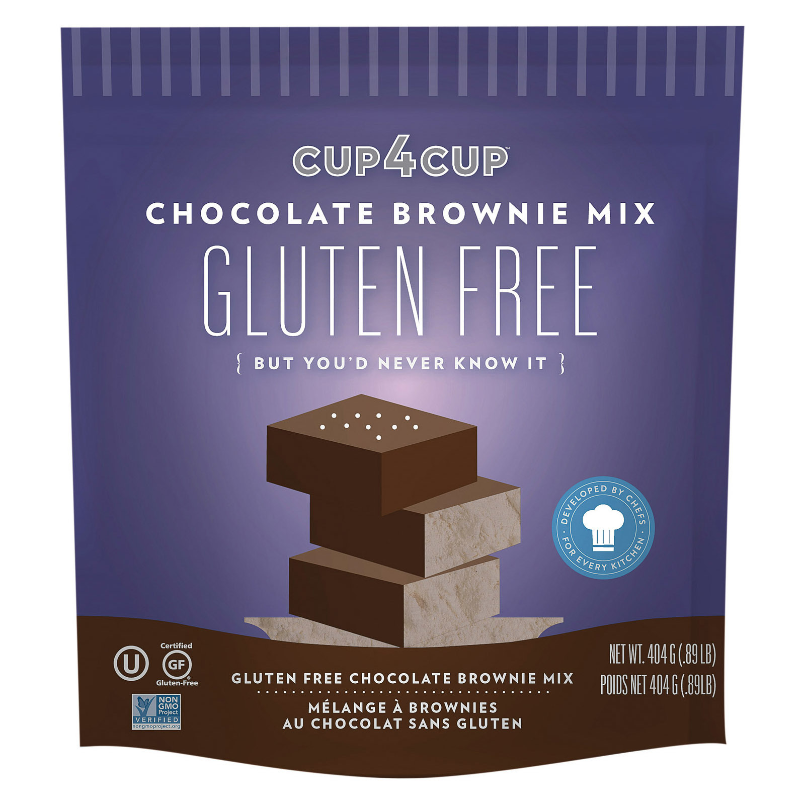 Cup 4 Cup Chocolate Brownie Mix - Case of 6 - 14.25 oz.