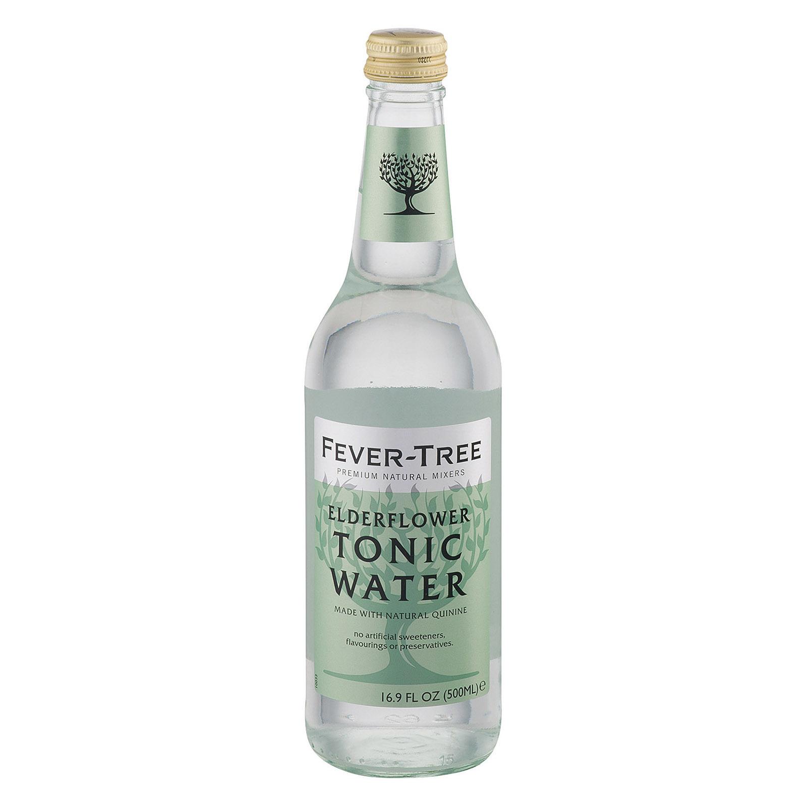 Fever - Tree Elderflower Tonic Water - Tonic Water - Case of 8 - 16.9 FL oz.