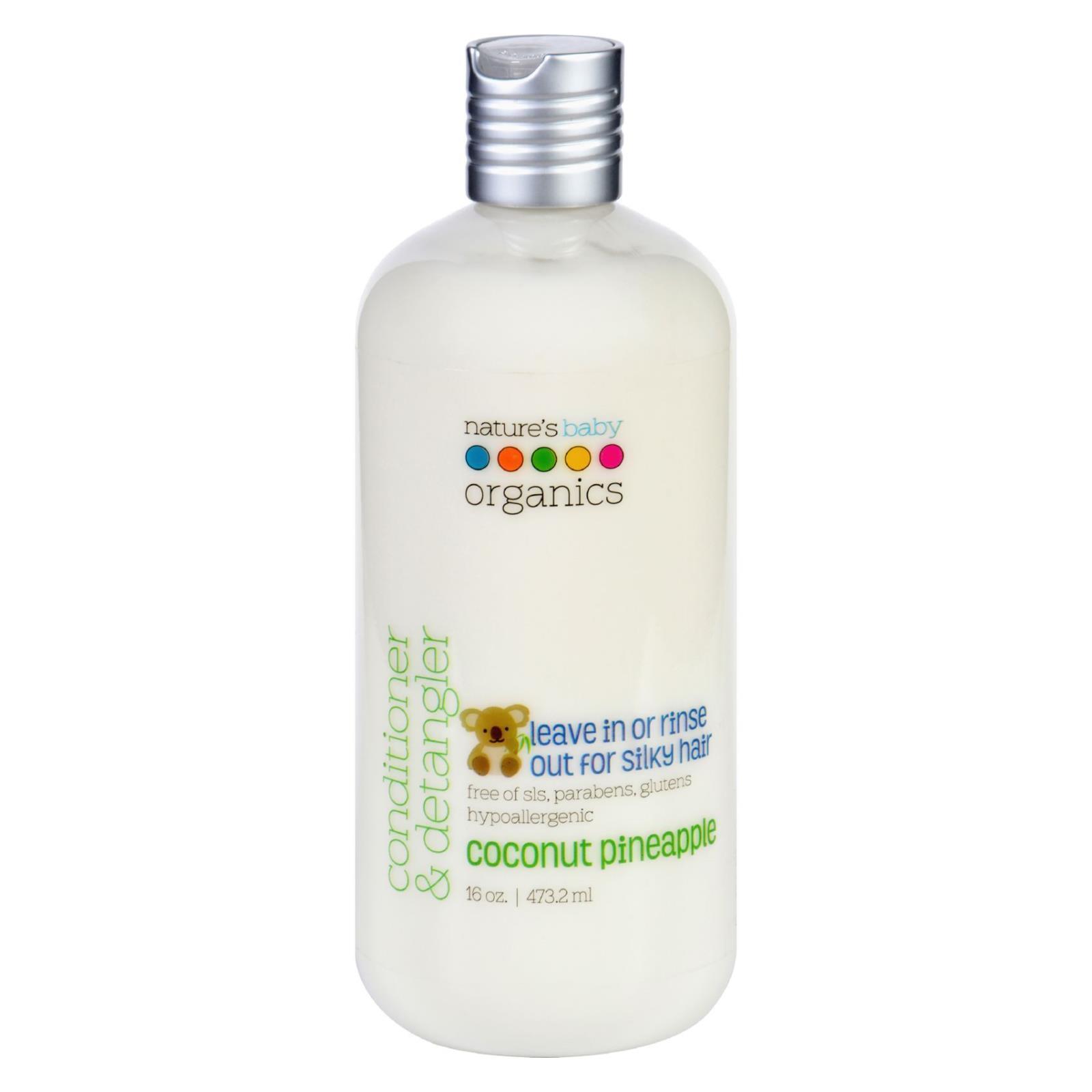 Nature's Baby Organics Conditioner and Detangler - Coconut Pineapple - 16 oz