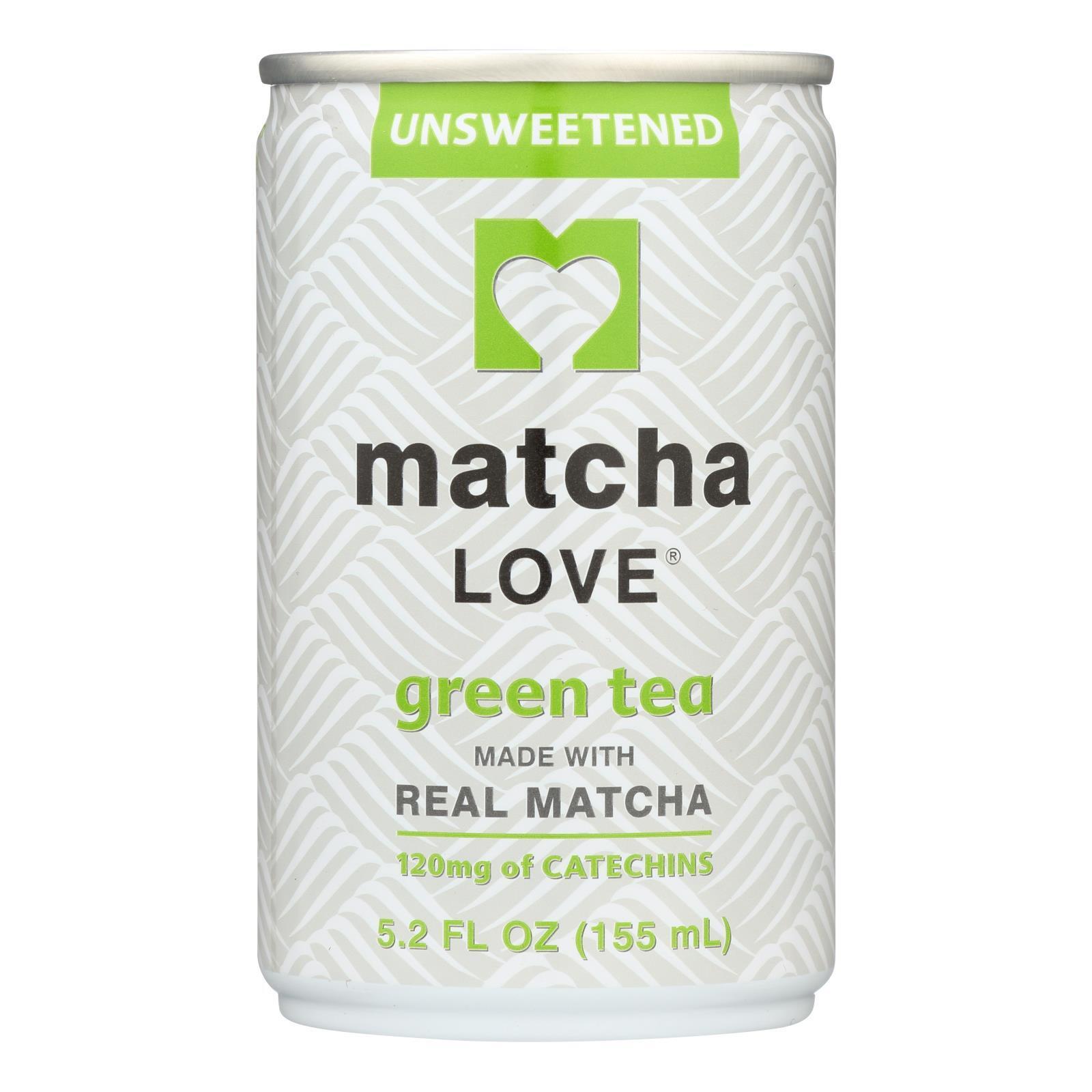 Matcha Love Unsweetened Tea - Case of 20 - 5.2 oz.