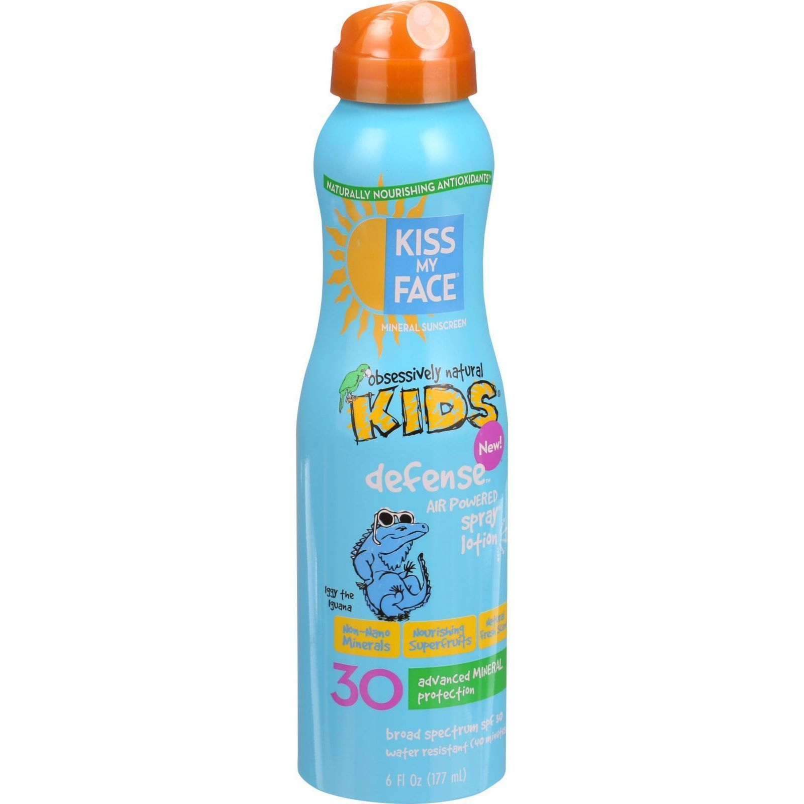 Kiss My Face Sunscreen - Mineral - Continuous Spray - Kids Defense - SPF 30 - 6 oz