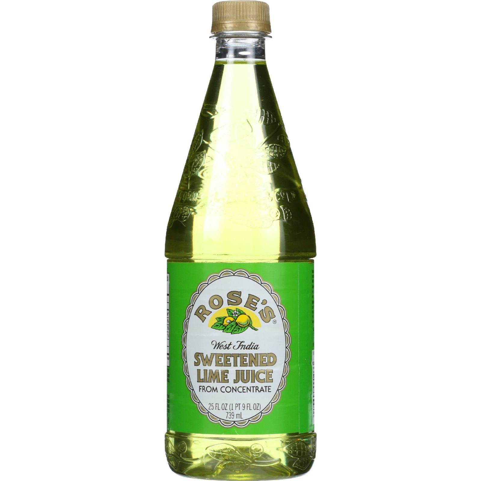 Roses Juice - Sweetened Lime - 25 oz - case of 12