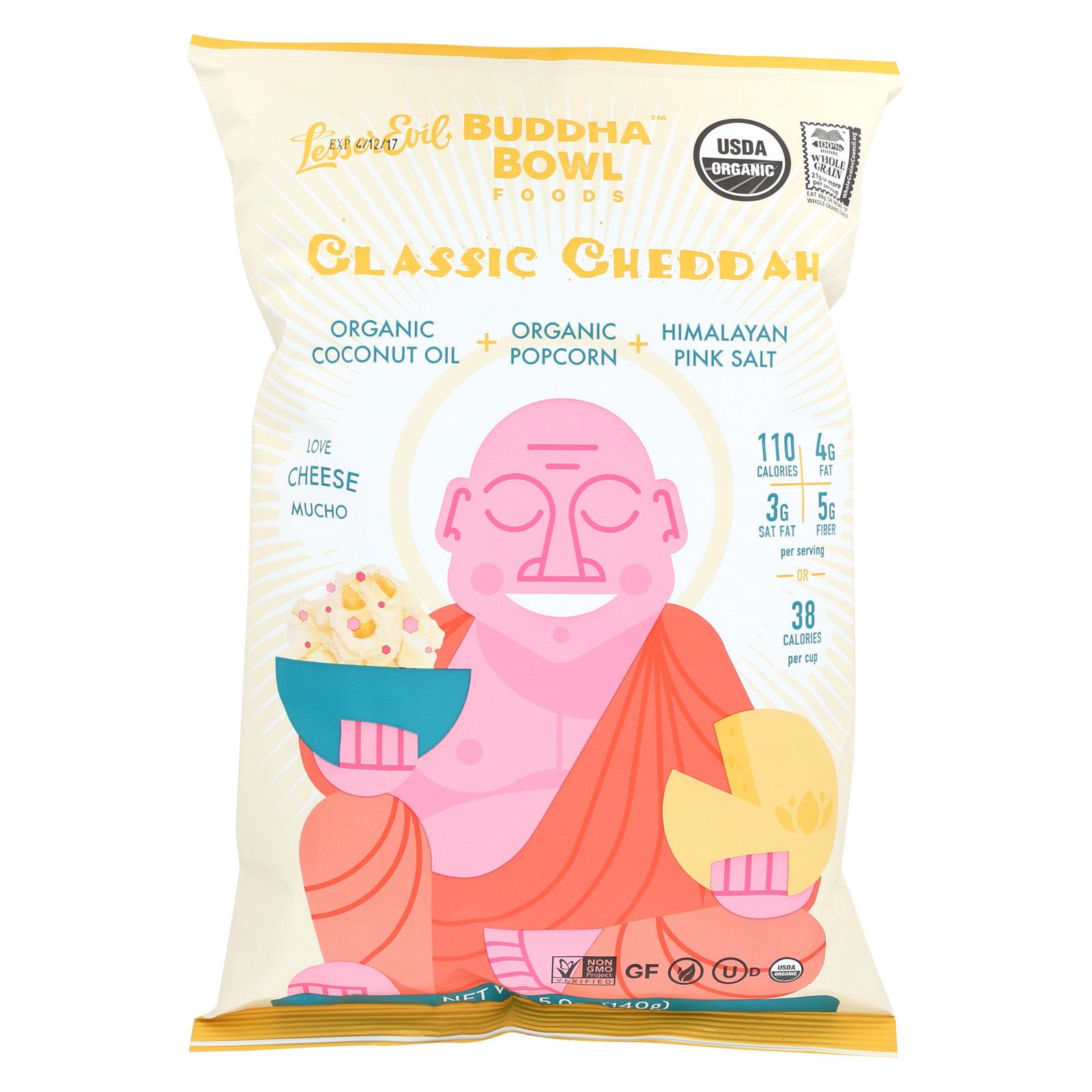 Lesser Evil Popcorn - Classic Cheddah - Case of 12 - 5 oz.
