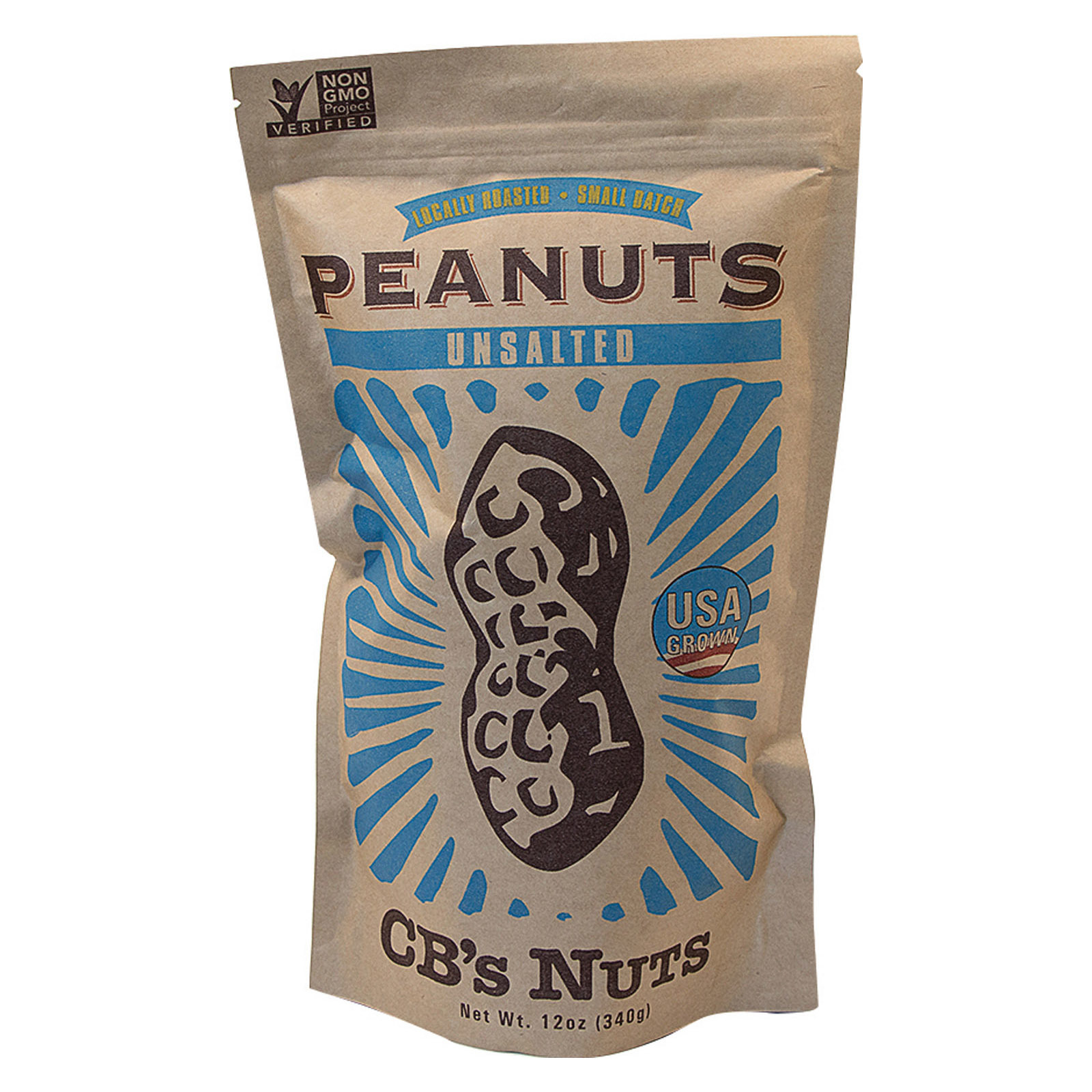 Cb's Nuts Peanuts - Unsalted - Jumbo - in Shell - Case of 12 - 12 oz