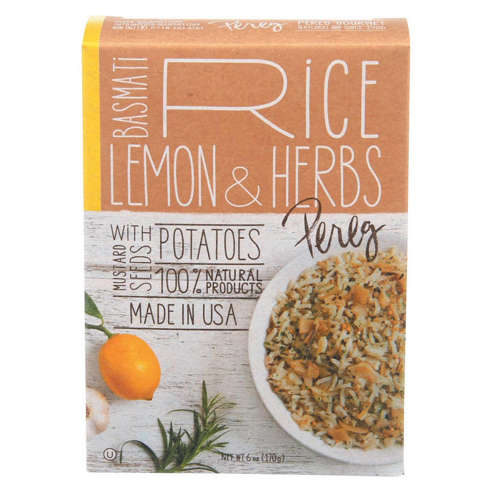 Pereg Basmati - Rice - Lemon Herb - Box - Case of 6 - 6 oz
