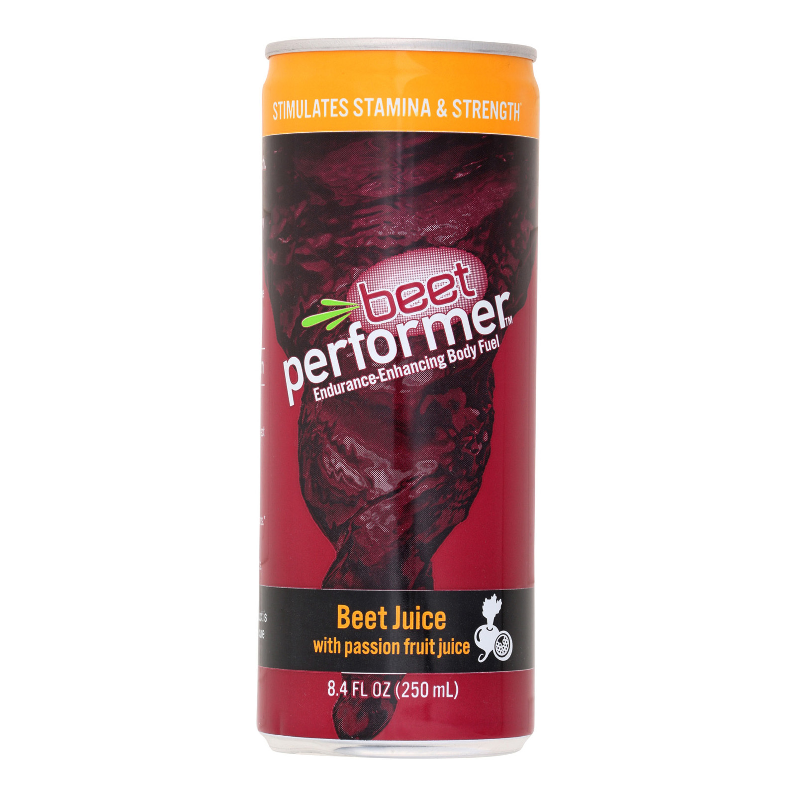 Beet Performer Beet Juice - Passion Fruit Juice - Case of 12 - 8.4 FL oz.