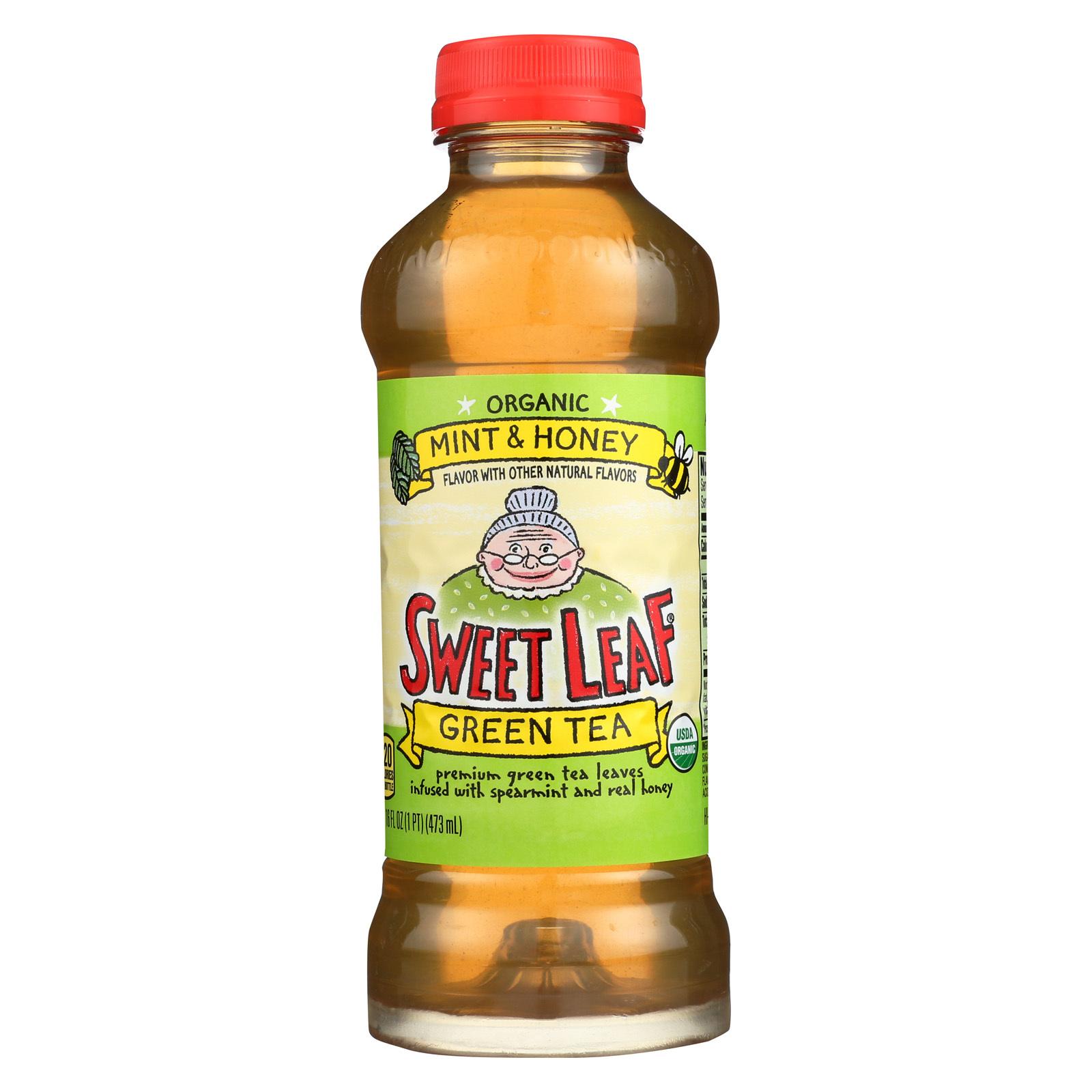 Sweet Leaf Tea Iced Green Tea - Mint and Honey - Case of 12 - 16 Fl oz.